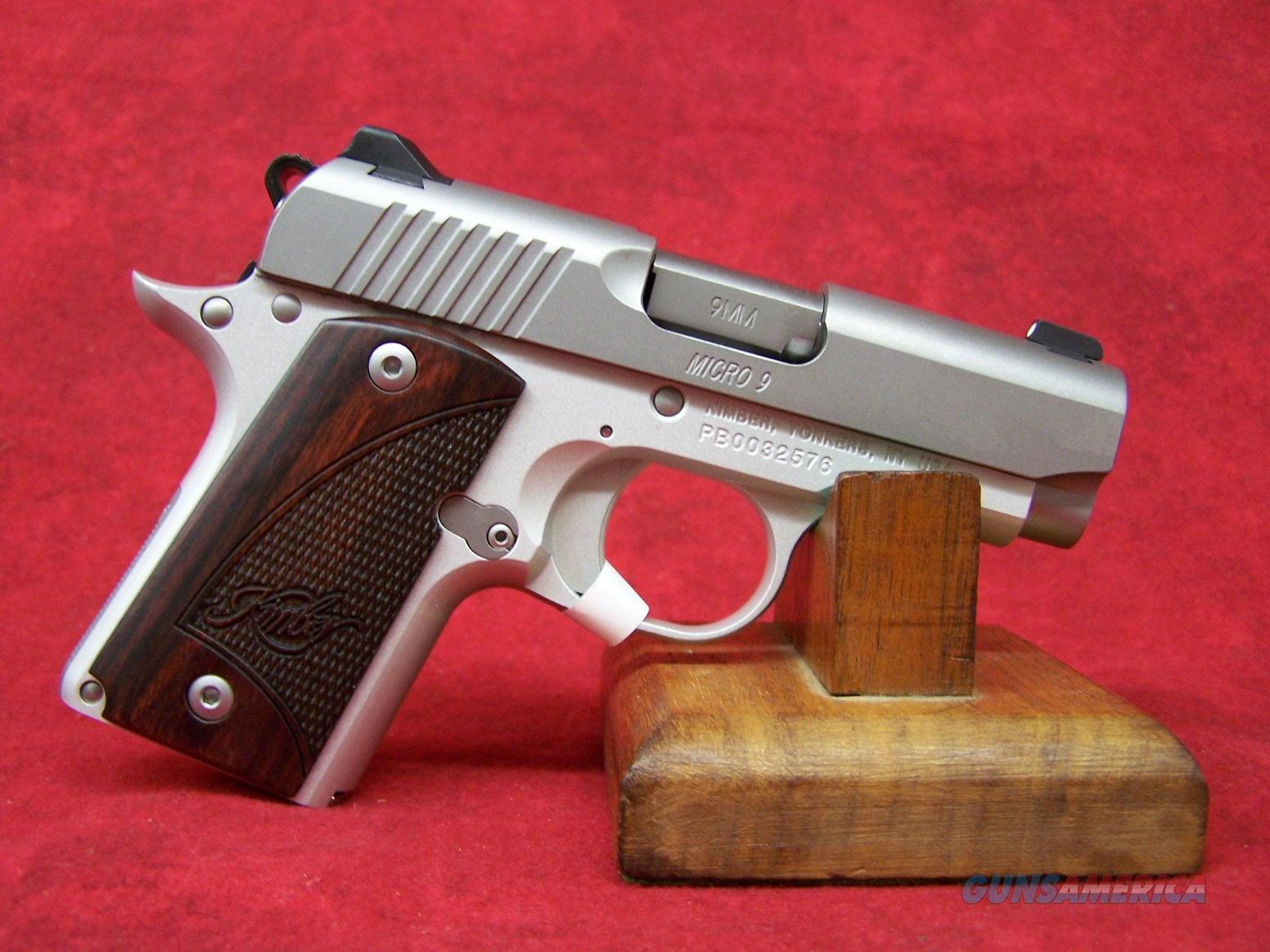 "Kimber Micro 9 Stainless 9mm 3.15"" Barrel Rosewood Grips (33158) Guns > Pistols >  Kimber of America Pistols > Micro 9"