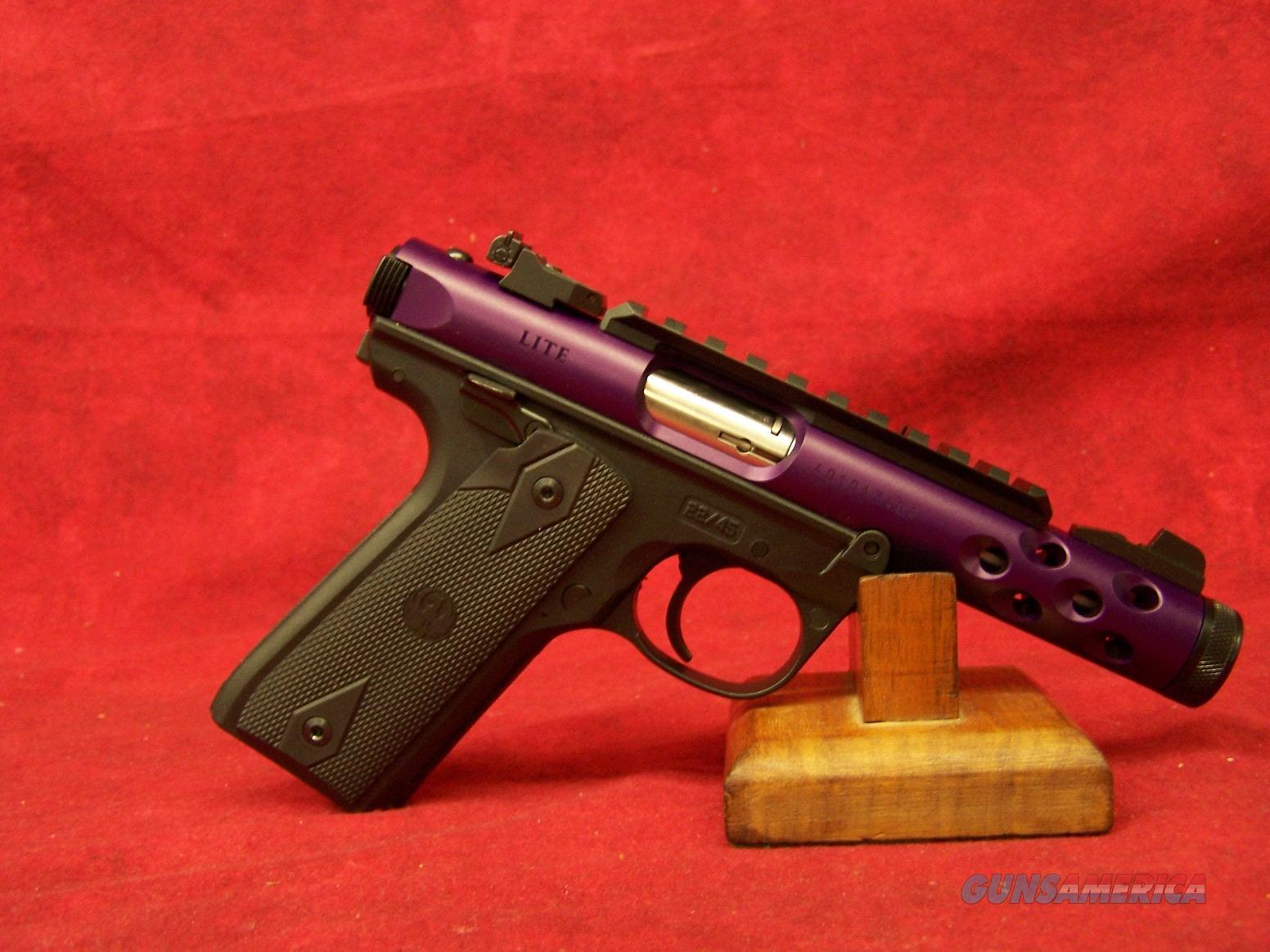 "Ruger Mark IV Lite Purple 22LR 4.40"" Barrel (43915)  Guns > Pistols > Ruger Semi-Auto Pistols > Mark I/II/III/IV Family"