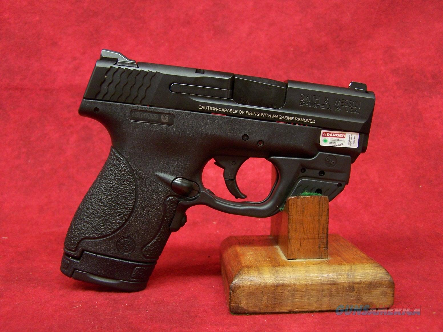 Smith & Wesson M&P Shield With Crimson Trace Green Laserguard .40 S&W 3.1 Inch Stainless Steel Barrel Black Melonite Finish (10147)  Guns > Pistols > Smith & Wesson Pistols - Autos > Shield