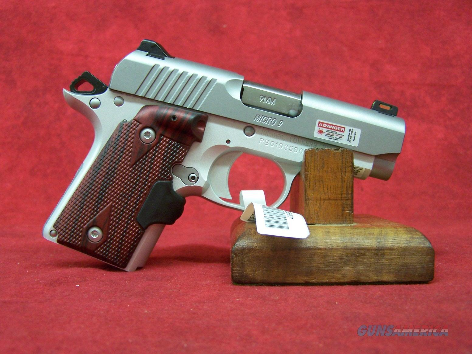 "Kimber Micro 9 Stainless Rosewood Laser Grip 9mm 3.15"" Barrel (37482)  Guns > Pistols > Kimber of America Pistols > Micro 9"
