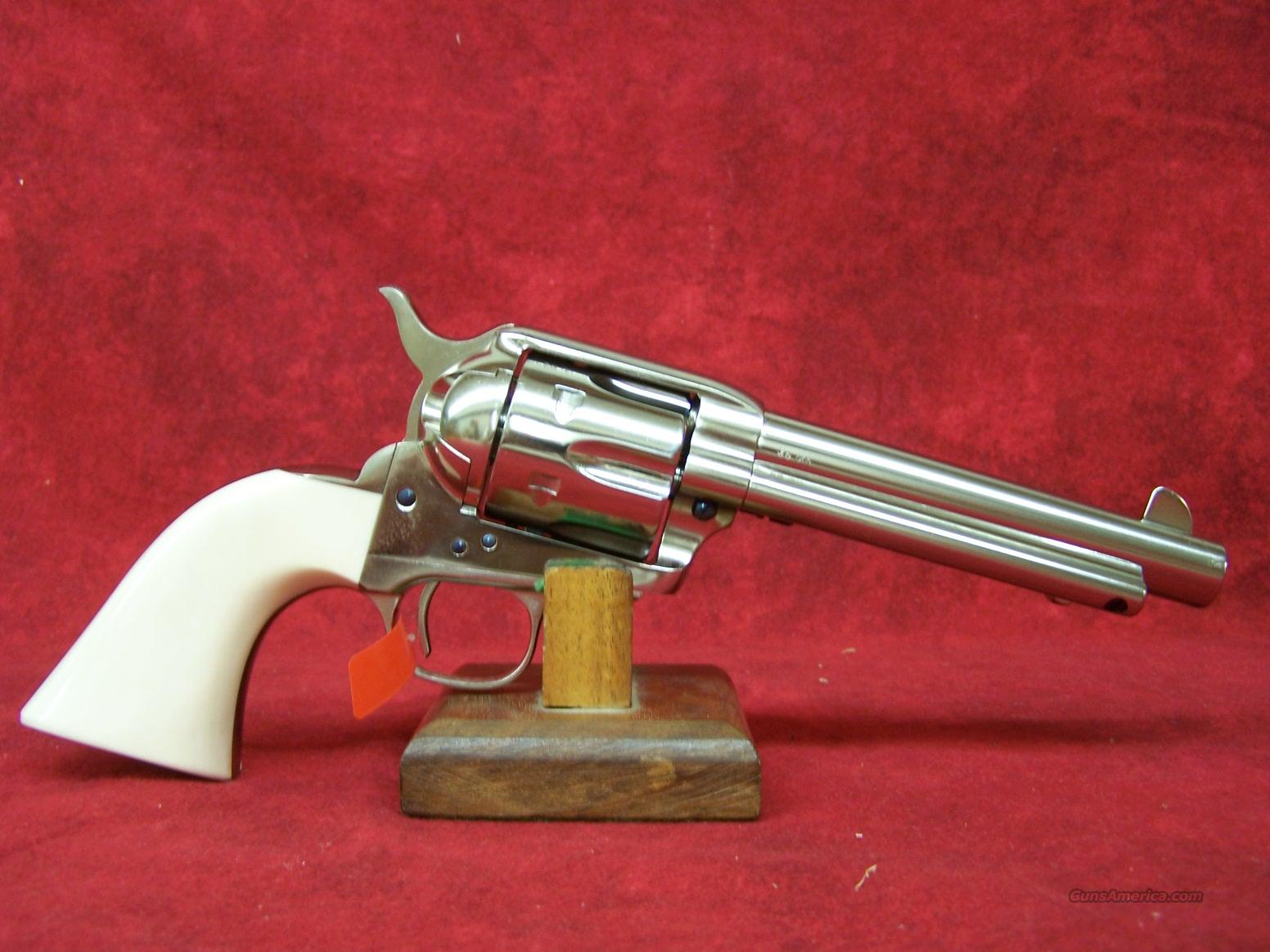 "Uberti 1873 Cattleman II Cody New Model Nickel 5 1/2"" .45LC (356115)  Guns > Pistols > Uberti Pistols > Ctg."