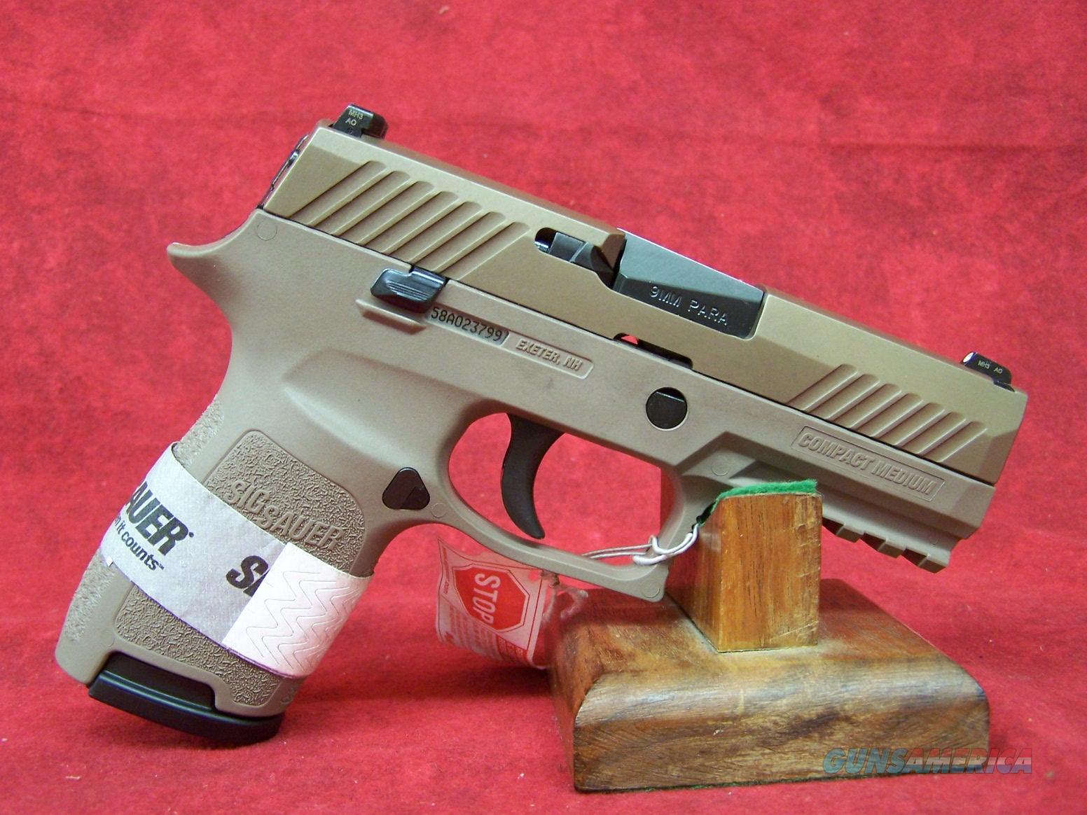 Sig Sauer P320c 9mm FDE (320C-9-FDE)  Guns > Pistols > Sig - Sauer/Sigarms Pistols > P320