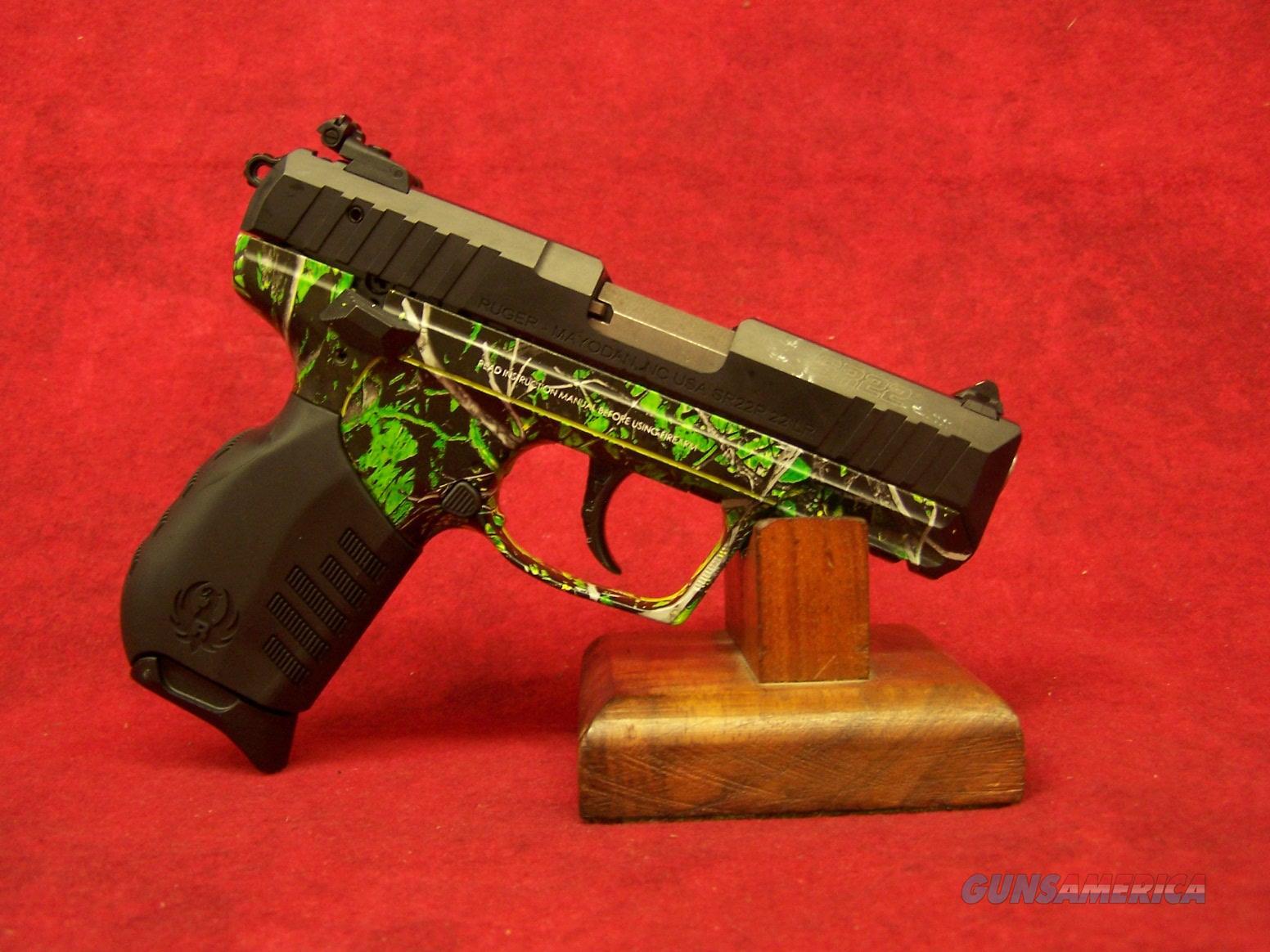 """RUGER SR22 .22LR 3.5"""" BARREL MOONSHINE CAMO TOXIC GREEN (03633)  Guns > Pistols > Ruger Semi-Auto Pistols > SR Family > SR22"""