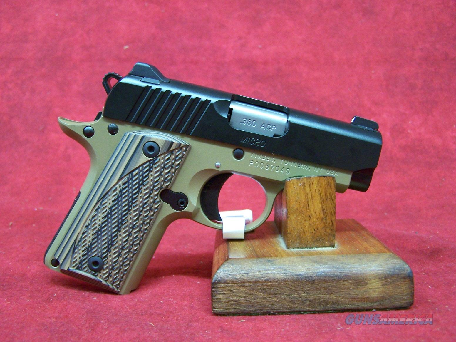 "Kimber Micro380 Desert Night 2.75"" Barrel (33167) Guns > Pistols >  Kimber of America Pistols > Micro"