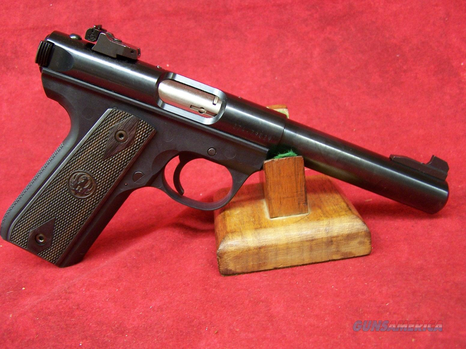 Ruger 22/45 Mark III With Replaceable Black Grip Panels .22 Long Rifle 5.5 Inch Blued (10158)   Guns > Pistols > Ruger Semi-Auto Pistols > Mark I/II/III Family