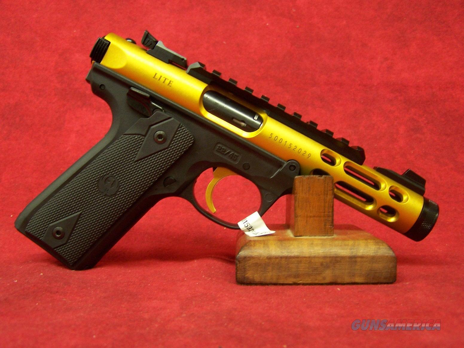 "Ruger Mark IV 22/45 Lite Gold Anodized .22LR 4.4"" Barrel (43926)  Guns > Pistols > Ruger Semi-Auto Pistols > Mark I/II/III/IV Family"