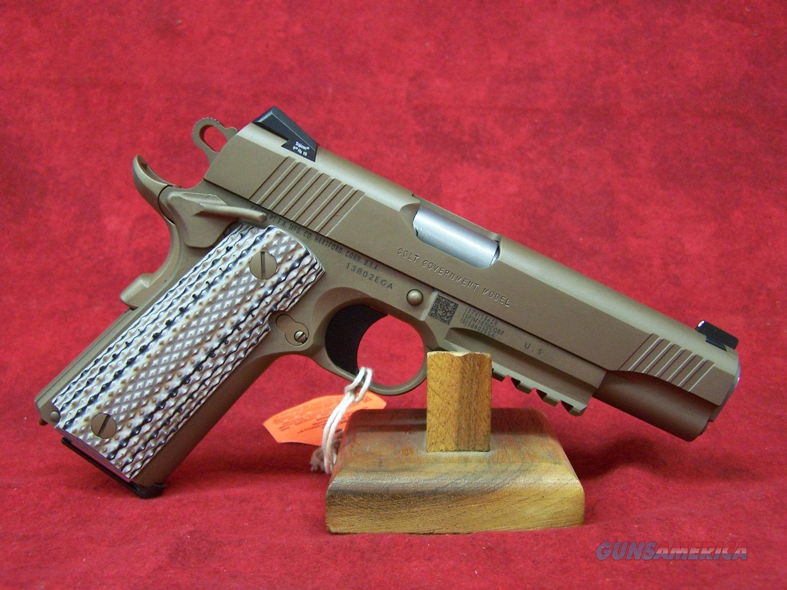 Colt Government M45 .45ACP Desert Tan (01070M45)  Guns > Pistols > Colt Automatic Pistols (1911 & Var)