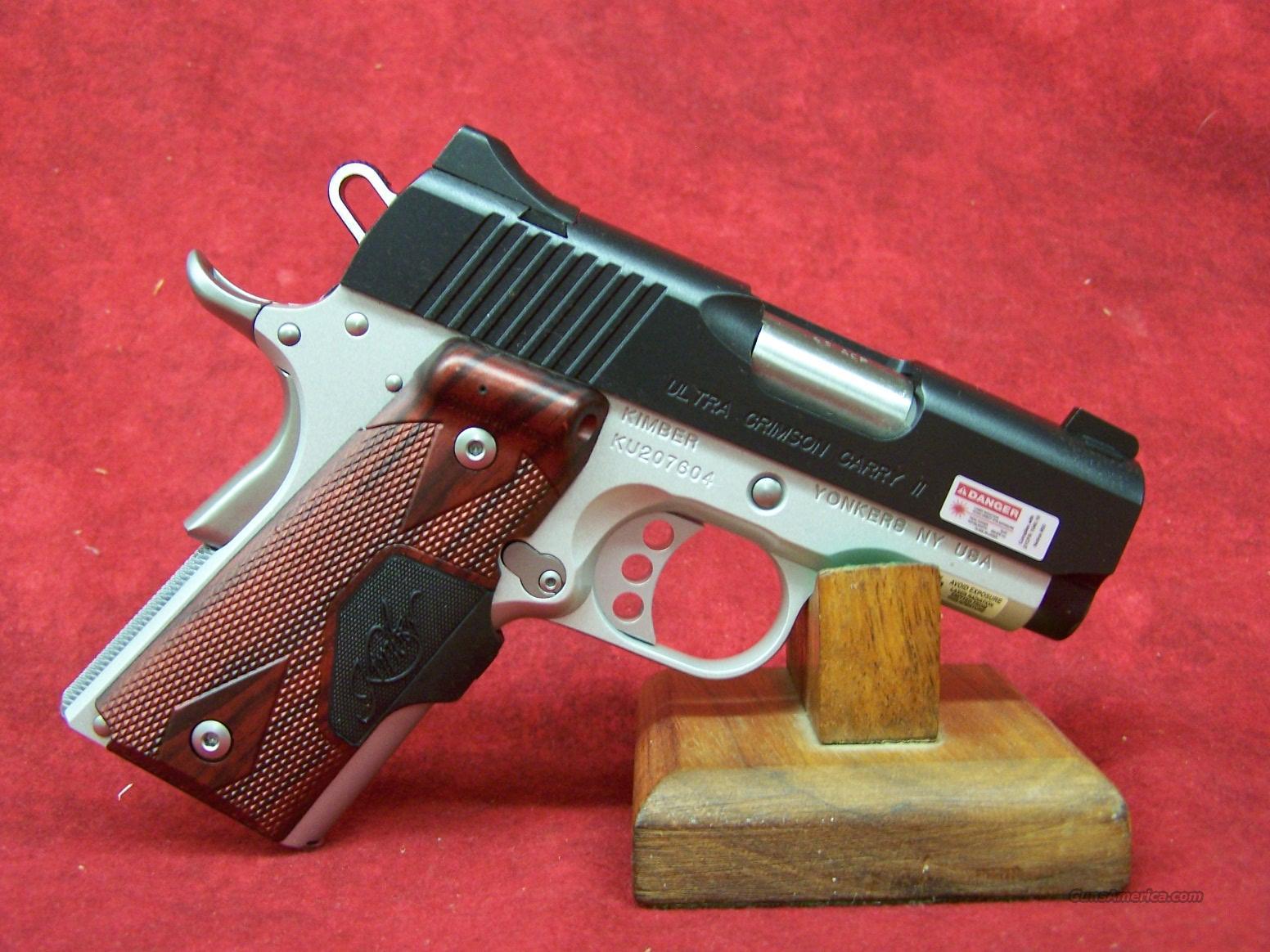 Kimber Ultra Crimson Carry II (Red LG) .45ACP (32191)  Guns > Pistols > Kimber of America Pistols