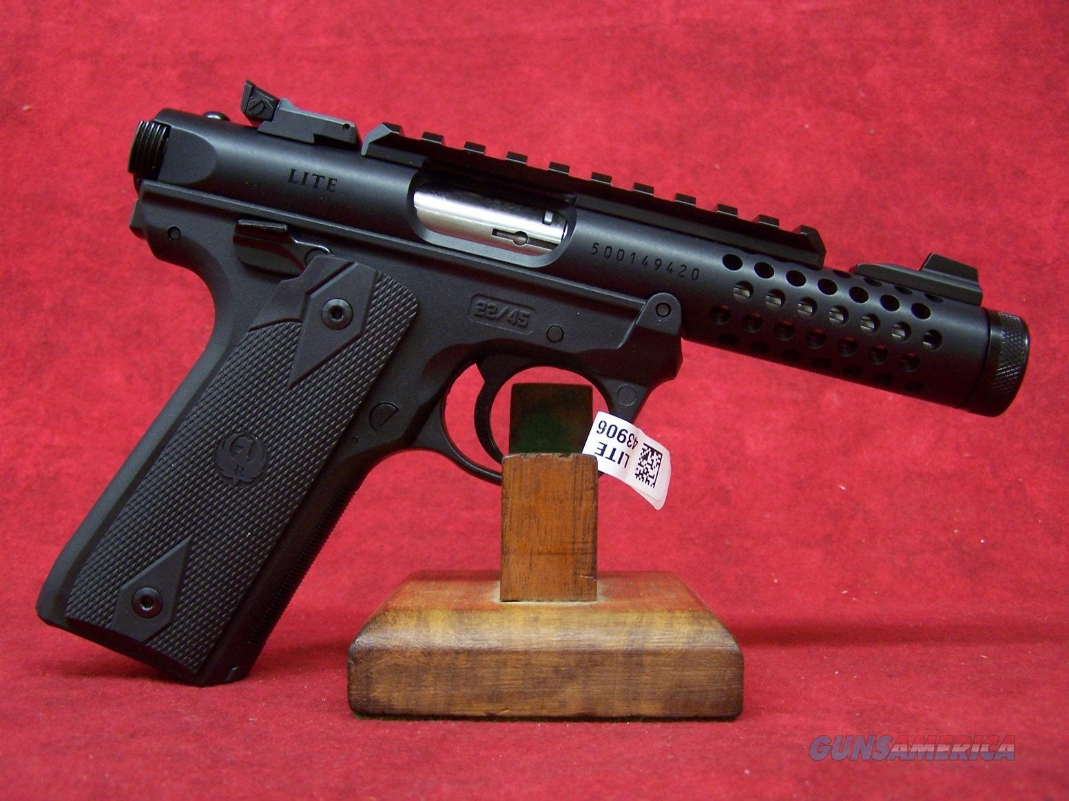 "Ruger Mark IV 22/45 Lite Black Anodized .22LR 4.4"" Barrel (43906)  Guns > Pistols > Ruger Semi-Auto Pistols > Mark I/II/III/IV Family"