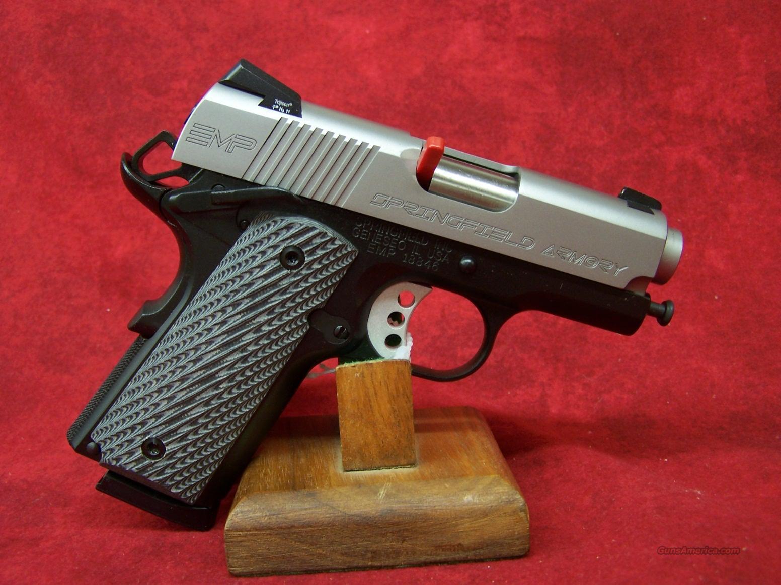Springfield Armory EMP 9mm w/ G10 Grips(PI9210LP).    Guns > Pistols > Springfield Armory Pistols > 1911 Type