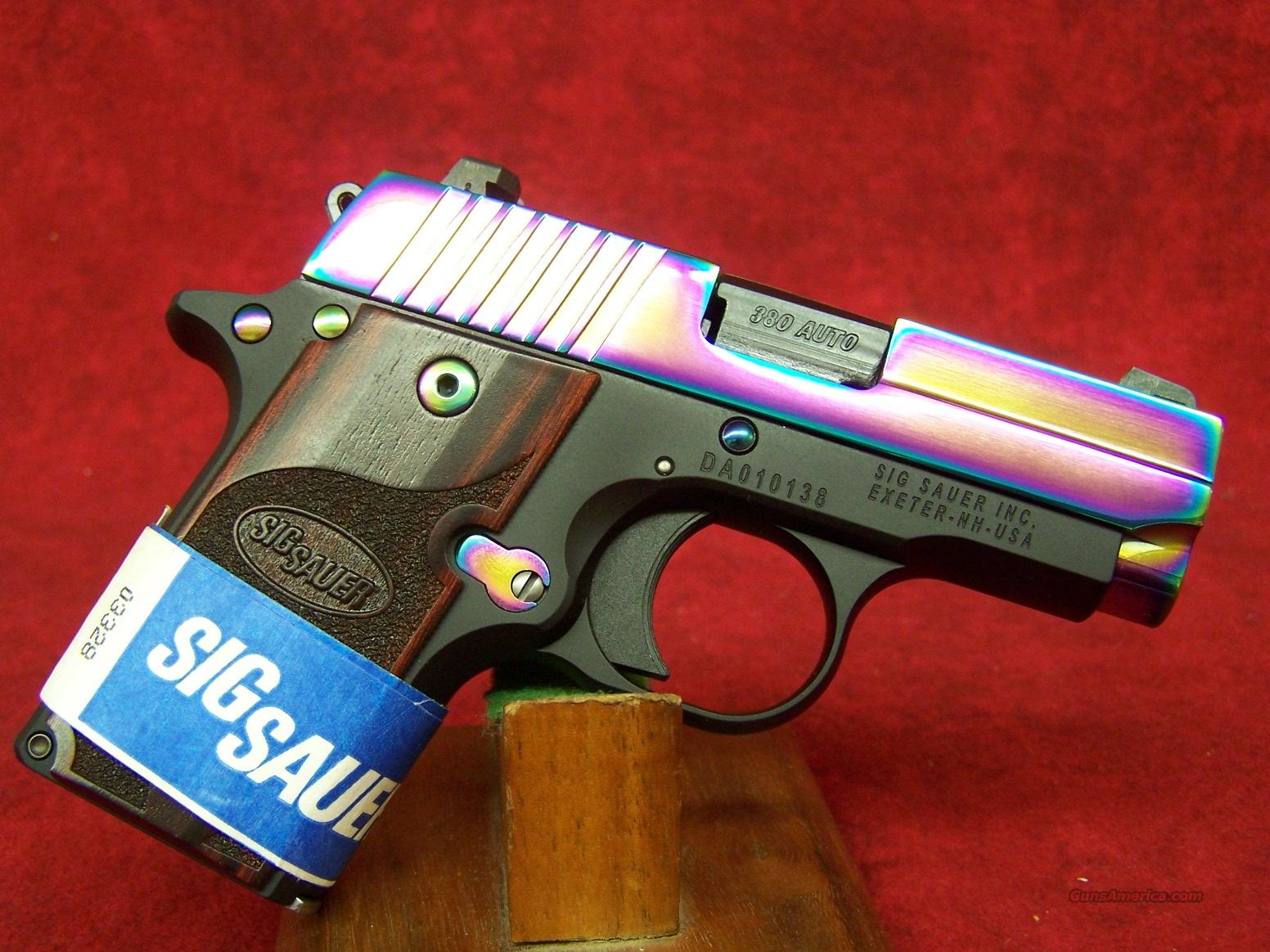 SIG SAUER P238 .380 ACP Rainbow Titanium with Rosewood Grips(238-380-RBT)  Guns > Pistols > Sig - Sauer/Sigarms Pistols > Other