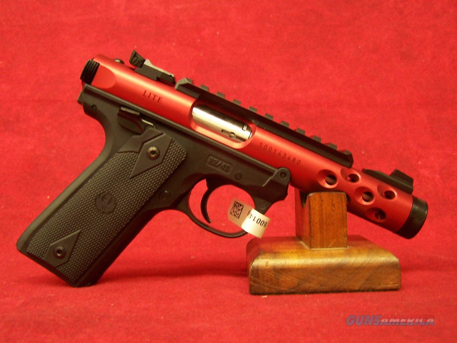 "Ruger Mark IV 22/45 Red Anodized .22LR 4.4"" (43910)  Guns > Pistols > Ruger Semi-Auto Pistols > Mark I/II/III/IV Family"