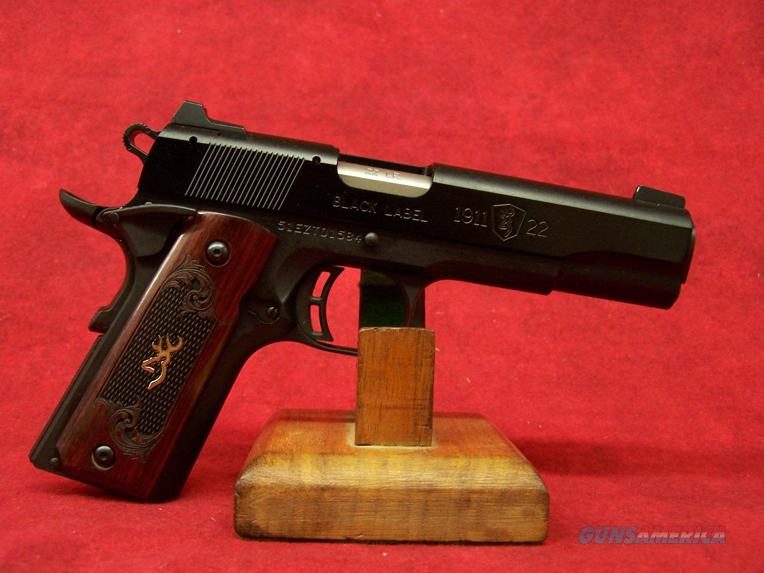 "BROWNING BLACK LABEL 1911-22 MEDALLION 22 LR 4.25"" BARREL (051851490)  Guns > Pistols > Browning Pistols > Other Autos"