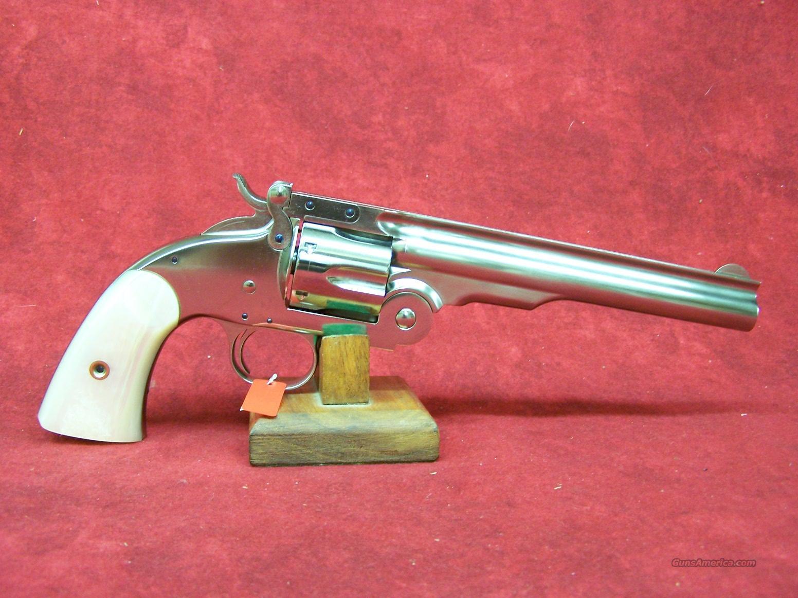 "Uberti 1875 Top Break Schofield .45LC 7"" Nickel (348572)  Guns > Pistols > Uberti Pistols > Ctg."