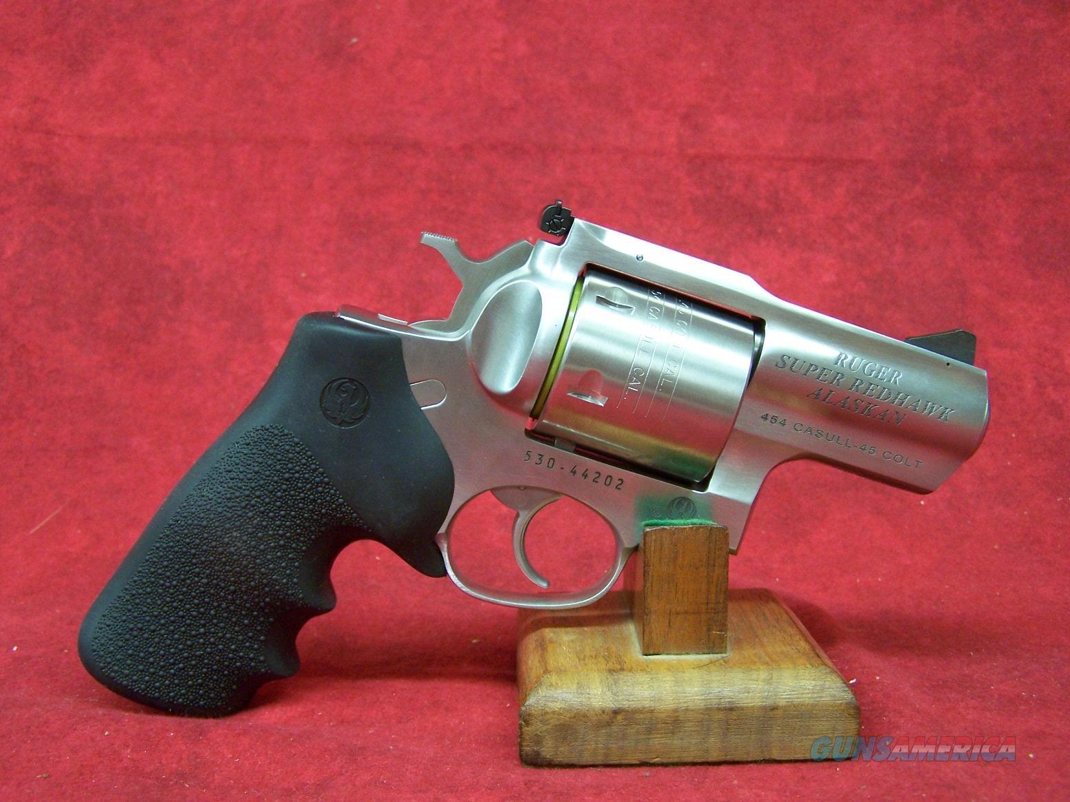 "Ruger Super Redhawk Alaskan .454 Casull 2.5"" Barrel Satin Stainless Steel 6 Round  KSRH-2454 (05301)  Guns > Pistols > Ruger Double Action Revolver > Redhawk Type"