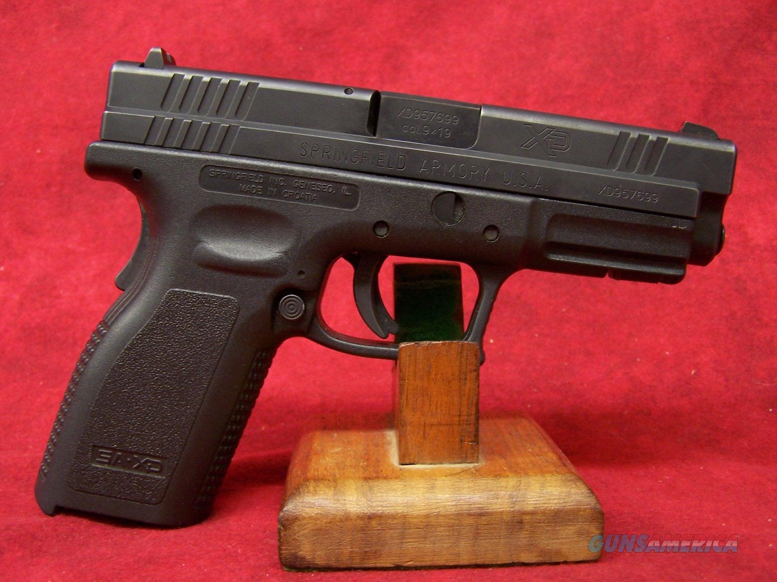 "Springfield XD-9 9mm 4"" Barrel (XD9101HCSP06)  Guns > Pistols > Springfield Armory Pistols > XD (eXtreme Duty)"