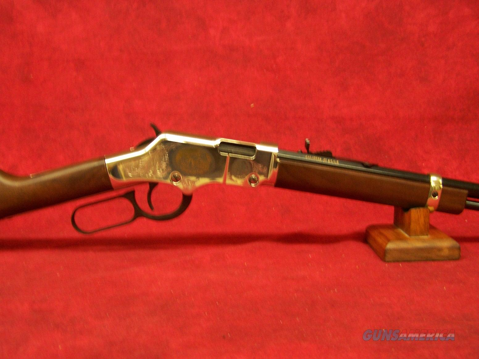 "Henry Golden Boy Coal Miners Tribute Edition II .22 Long/Long Rifle/Short 20"" Barrel (H004CM2)  Guns > Rifles > Henry Rifle Company"
