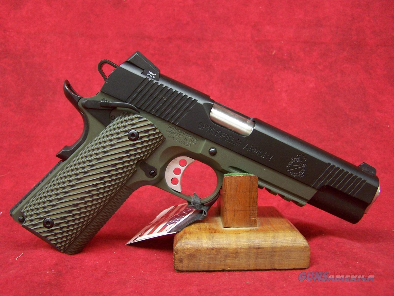 Springfield Armory 1911 MC Operator .45 ACP 5 Inch OD Green (PX9110MLP)  Guns > Pistols > Springfield Armory Pistols > 1911 Type