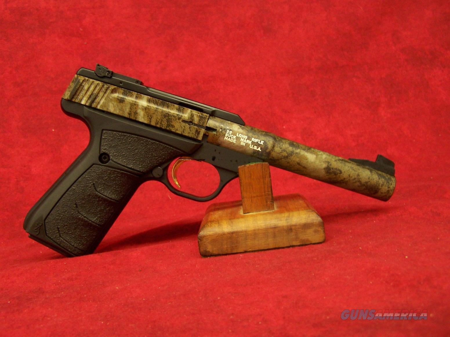 "Browning Buck Mark Camper Mossy Oak Bottomlands Shot Show Firearm .22LR 5 1/2"" Barrel (051513490)  Guns > Pistols > Browning Pistols > Buckmark"