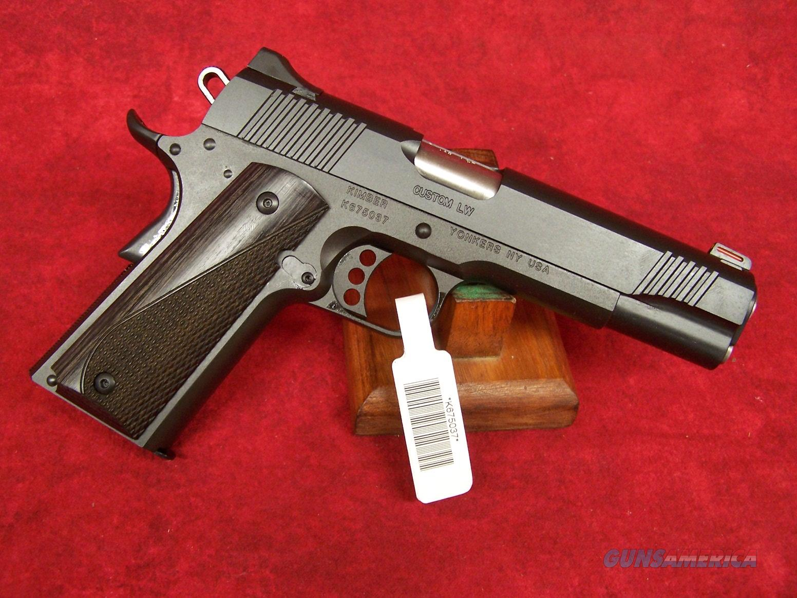 "Kimber Custom Lightweight .45 ACP 5"" Barrel (37597)  Guns > Pistols > Kimber of America Pistols > 1911"