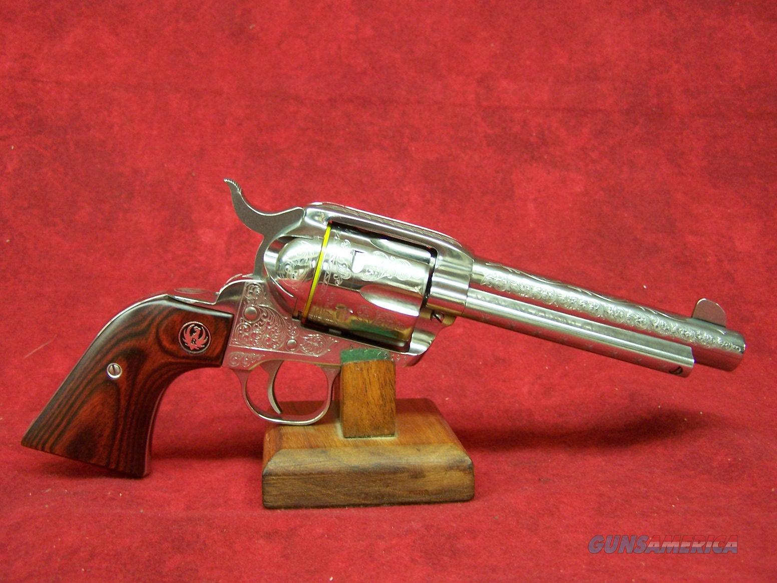 "Ruger Vaquero Deluxe .45 LC 5 1/2"" SS Engraved Limited Edition  (05157)  Guns > Pistols > Ruger Single Action Revolvers > Cowboy Action"