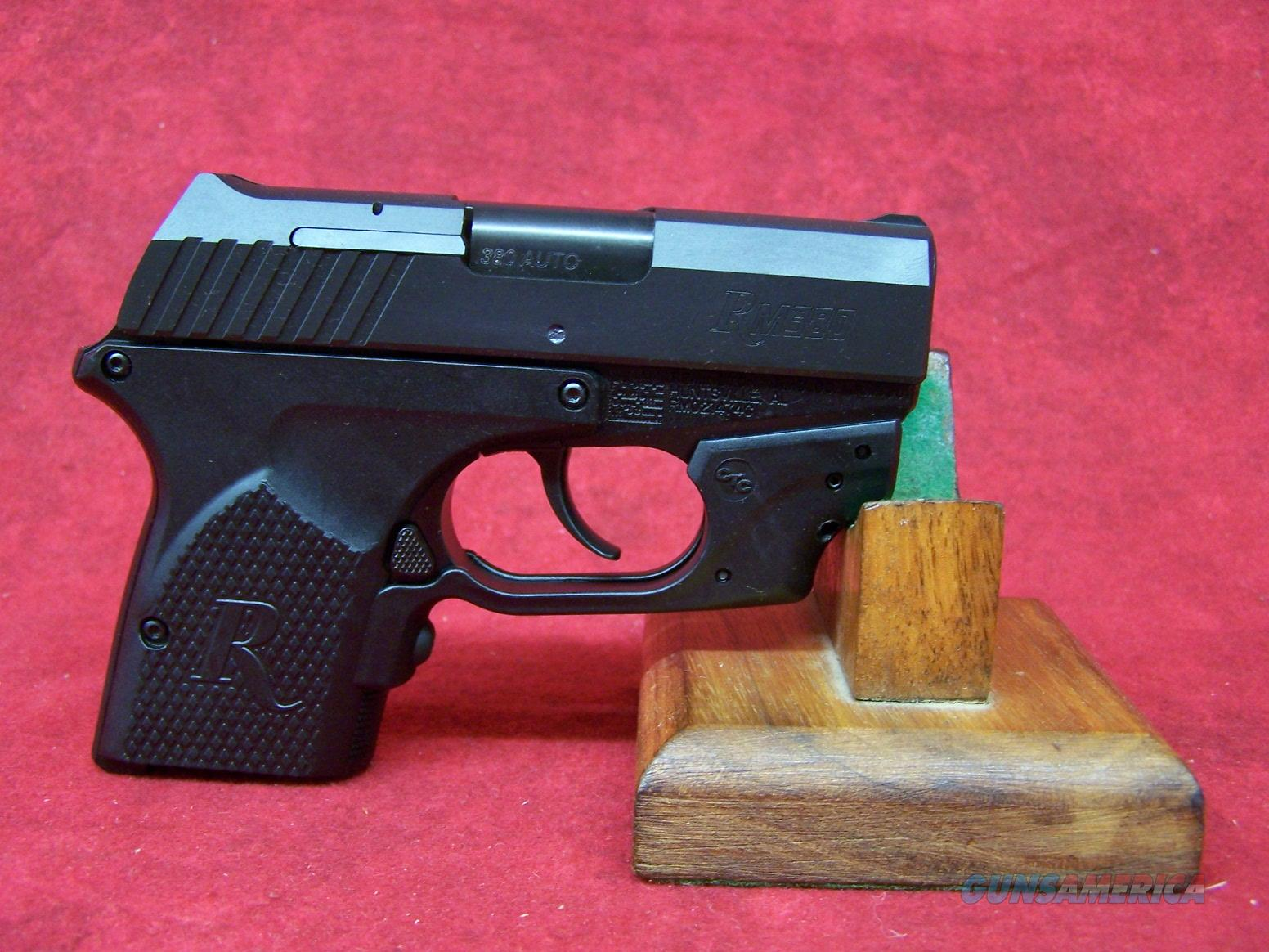 "Remington RM380 With Crimson Trace Grip .380ACP 2.9"" SS Barrel Black Oxide Finish (96462)  Guns > Pistols > Remington Pistols - Modern > RM380"