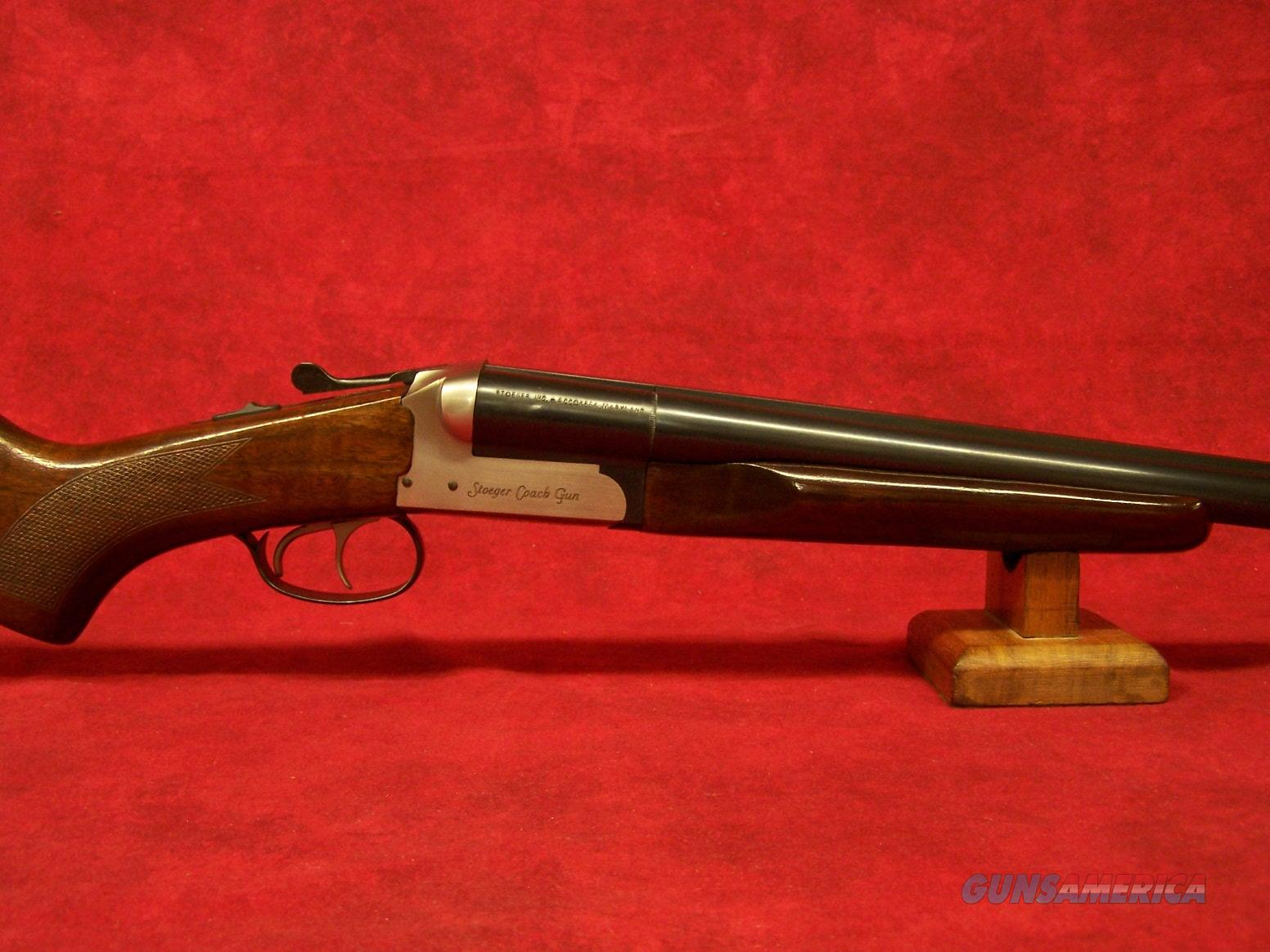 "Stoeger Coach Gun Supreme 12 Ga 3"" SxS AA-Grade Gloss Walnut, Blue /Stainless Receiver 20"" Barrel (31483)  Guns > Shotguns > Stoeger Shotguns"