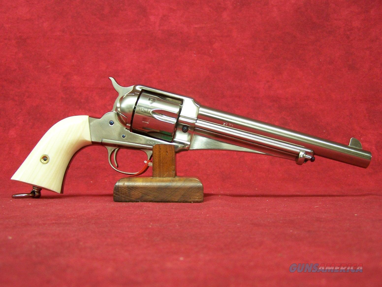 "Uberti 1875 SAA Outlaw ""Frank"" .45 Colt 7.5"" Nickel Barrel Ivory Style grips (356713)  Guns > Pistols > Uberti Pistols > Ctg."
