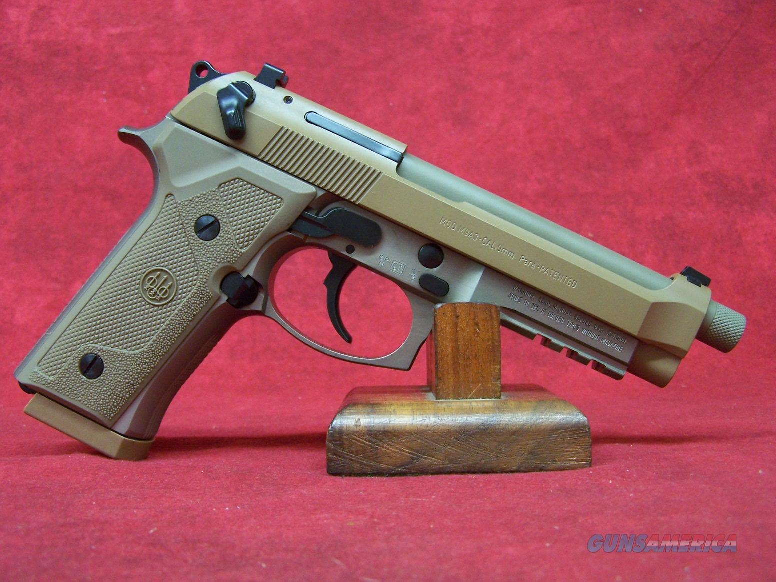 "Beretta M9A3 FDE 9mm 5"" Barrel (J92M9A3M)  Guns > Pistols > Beretta Pistols > M9"