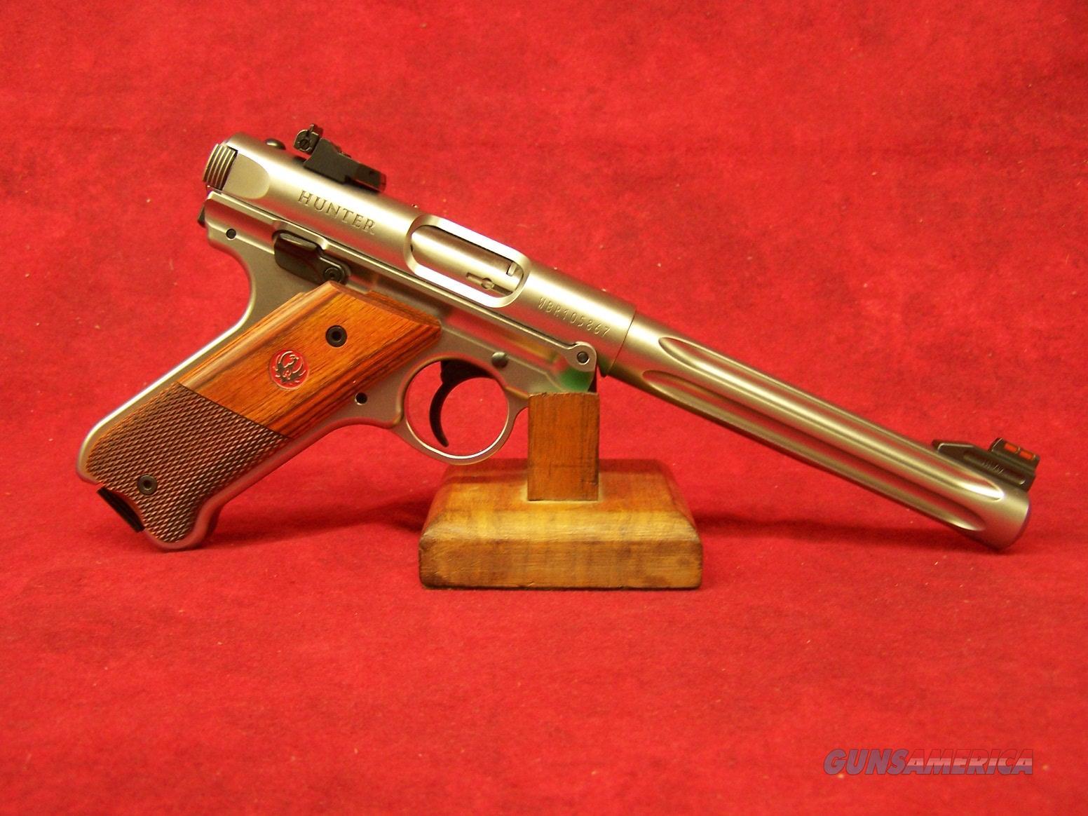 """RUGER MK IV HUNTER 22LR 6.88"""" FLTD BULL SS FOS (40118)  Guns > Pistols > Ruger Semi-Auto Pistols > Mark I/II/III/IV Family"""
