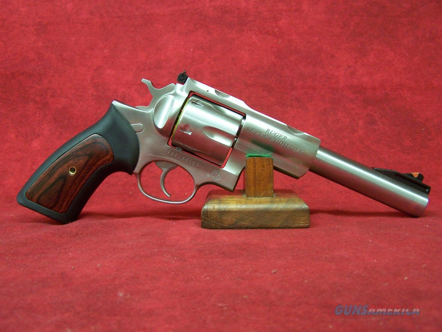 """RUGER SUPER REDHAWK 10MM 6.5"""" SS AS RUBBER GRIPS (05524)  Guns > Pistols > Ruger Double Action Revolver > Redhawk Type"""