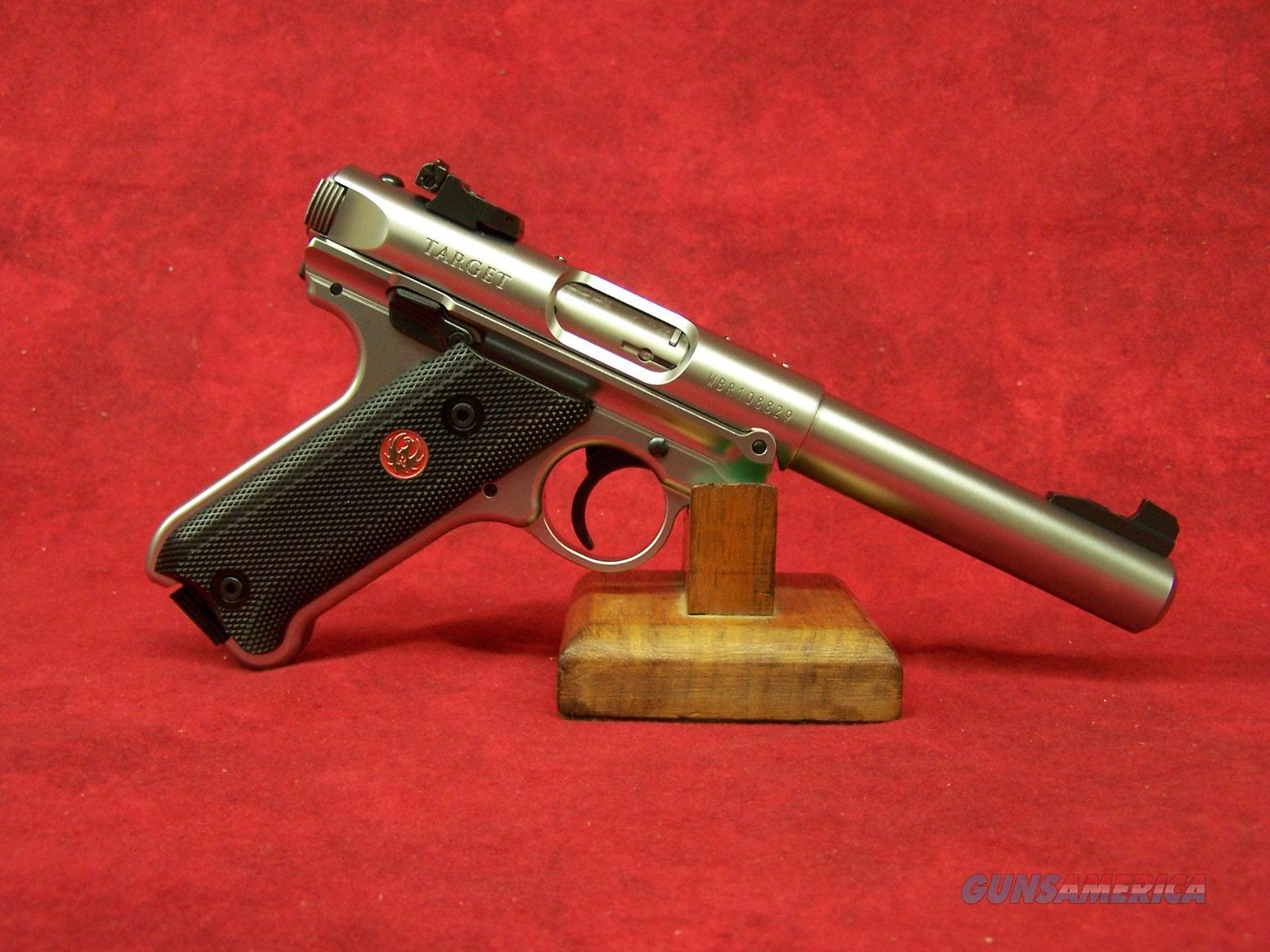 "RUGER MKIV TARGET 22LR 5.5"" BULL SS AS 2 10RD (40103)  Guns > Pistols > Ruger Semi-Auto Pistols > Mark I/II/III Family"