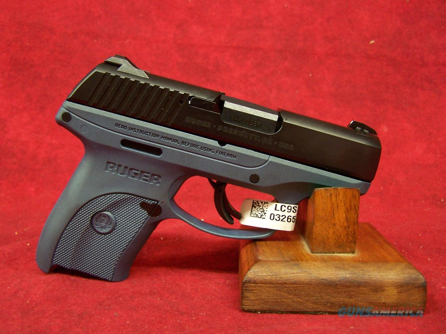 "Ruger LC9S-BT 9mm 3"" Barrel Blue Frame. (03265)  Guns > Pistols > Ruger Semi-Auto Pistols > LC9"