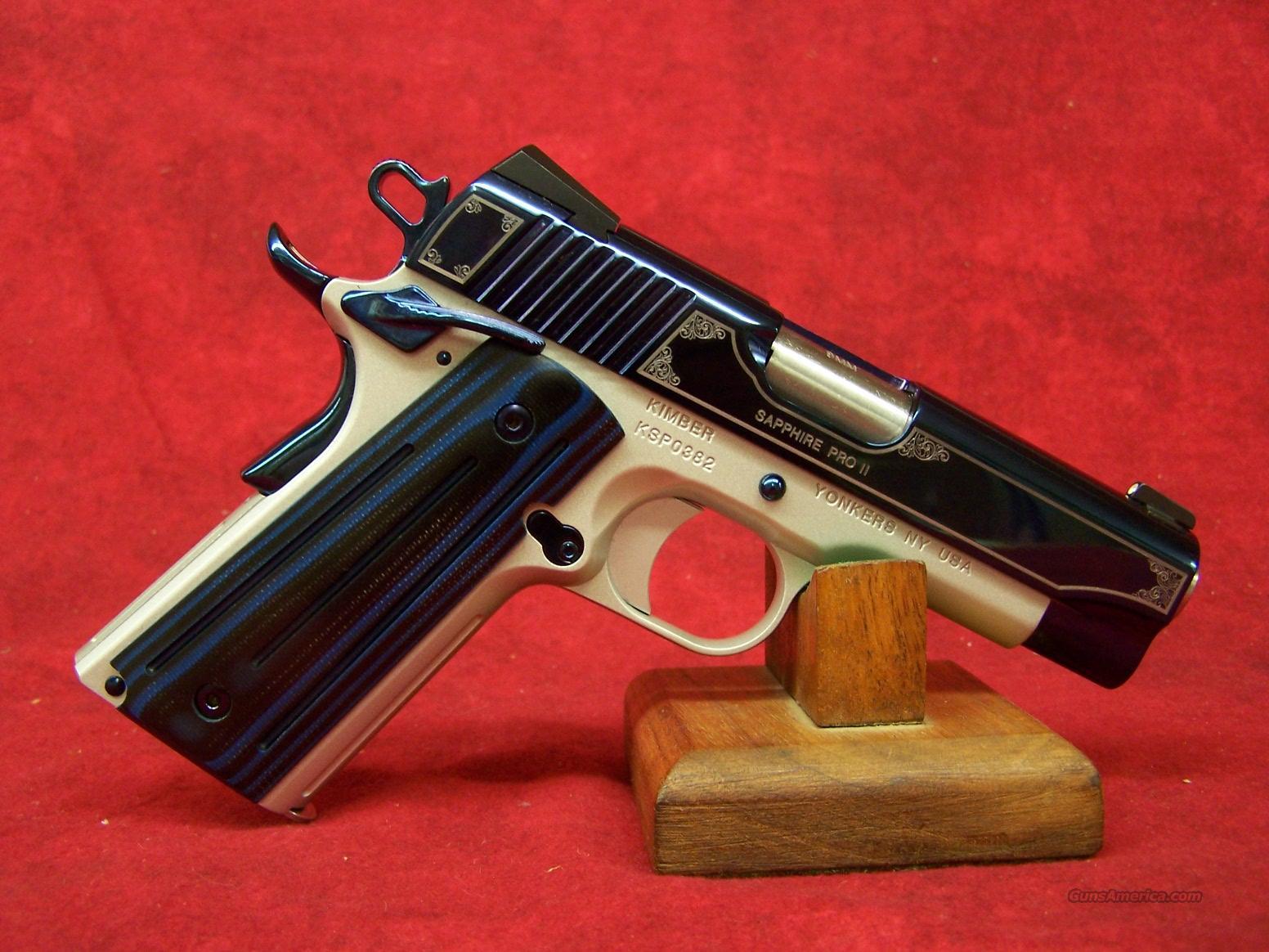 Kimber Sapphire Pro II 9mm (32298)  Guns > Pistols > Kimber of America Pistols