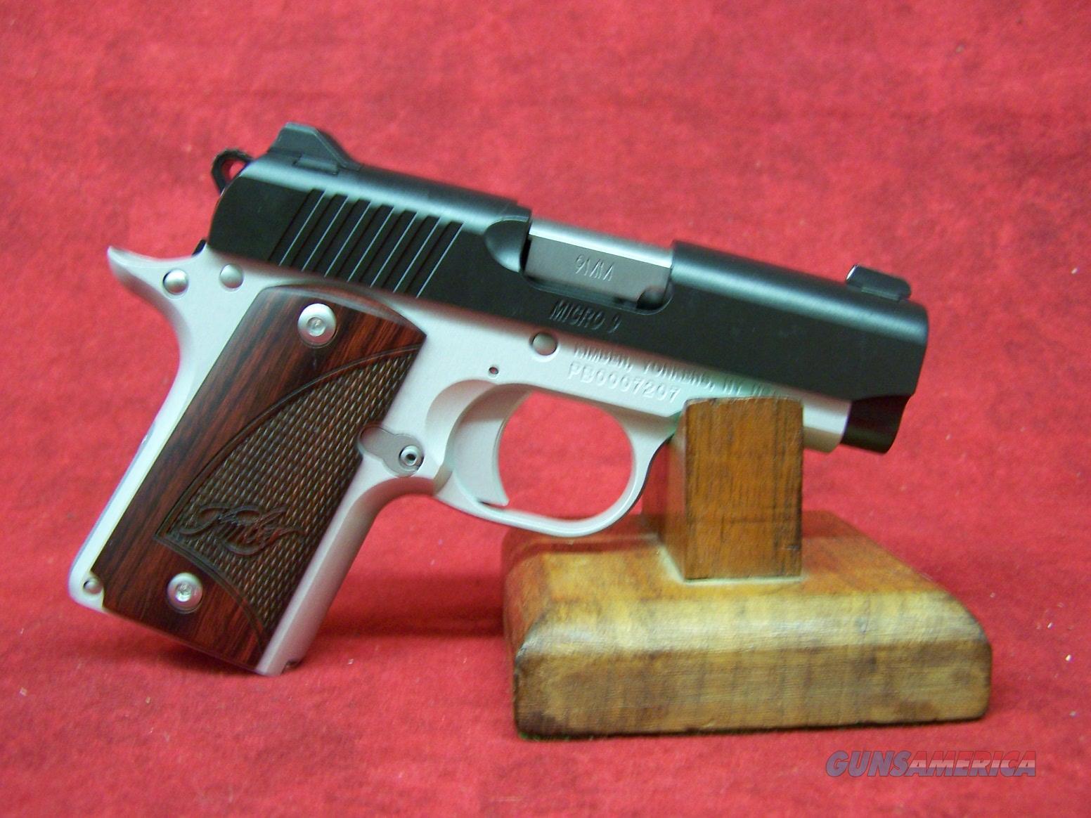 "Kimber Micro 9 Two-Tone 9mm 3.15"" Barrel Rosewood Grips (33099) Guns > Pistols >  Kimber of America Pistols > Micro 9"