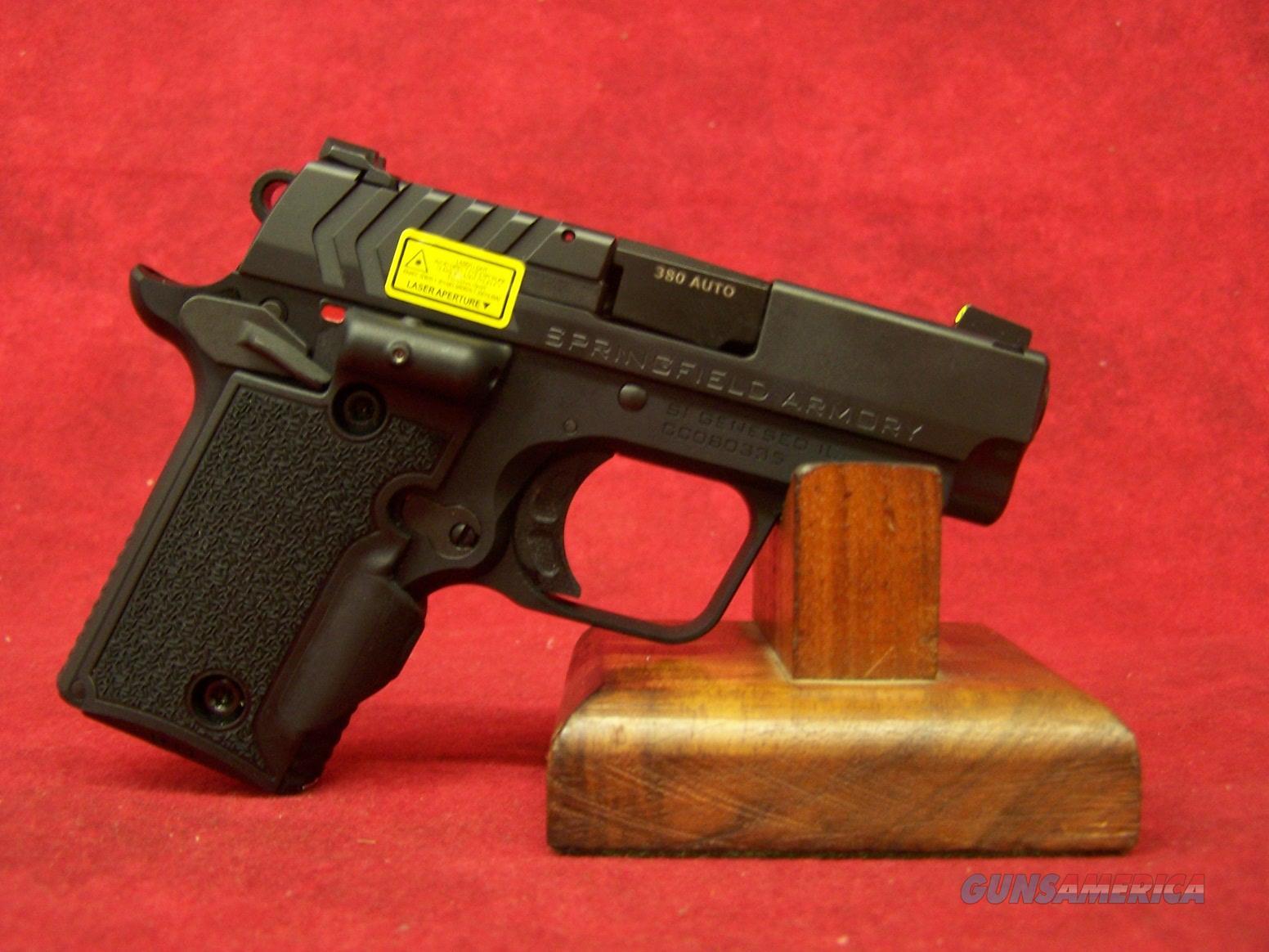 Springfield Armory 911 Black w/ Green Laser .380 ACP (PG9109VG)  Guns > Pistols > Springfield Armory Pistols > 911