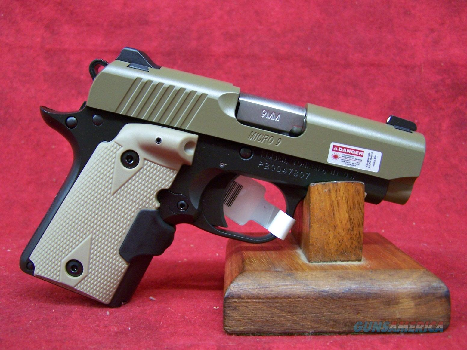 "Kimber Micro 9 Desert Tan 9mm 3.15"" Barrel (33168)  Guns > Pistols > Kimber of America Pistols"