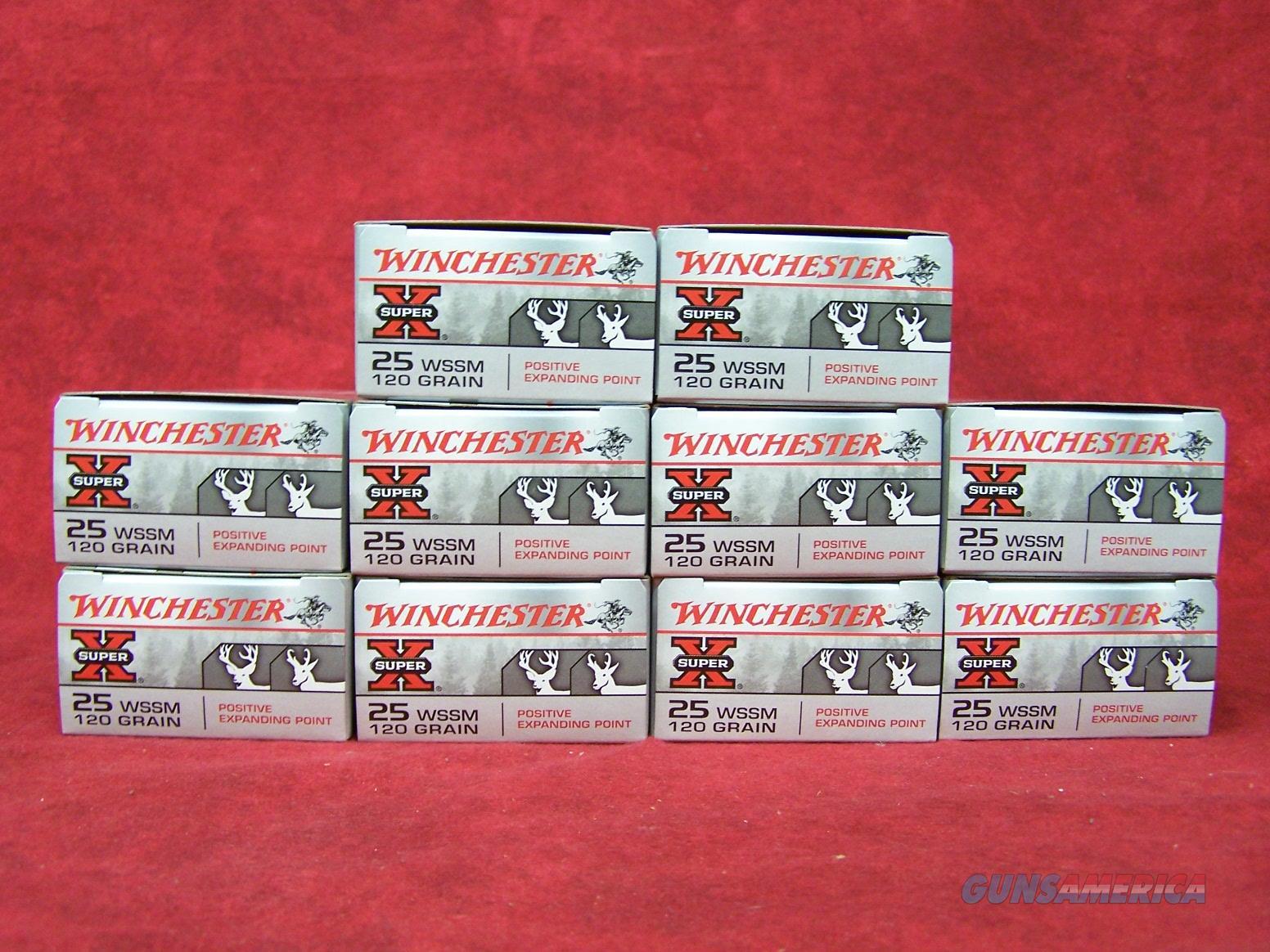 Winchester Super X 25 WSSM 120 Grain (10 boxes of 20--200 Rounds)  Non-Guns > Ammunition