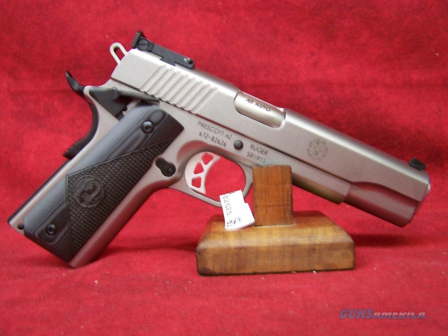 """Ruger SR1911 Target 45 Auto 5"""" Barrel (6736)  Guns > Pistols > Ruger Semi-Auto Pistols > 1911"""