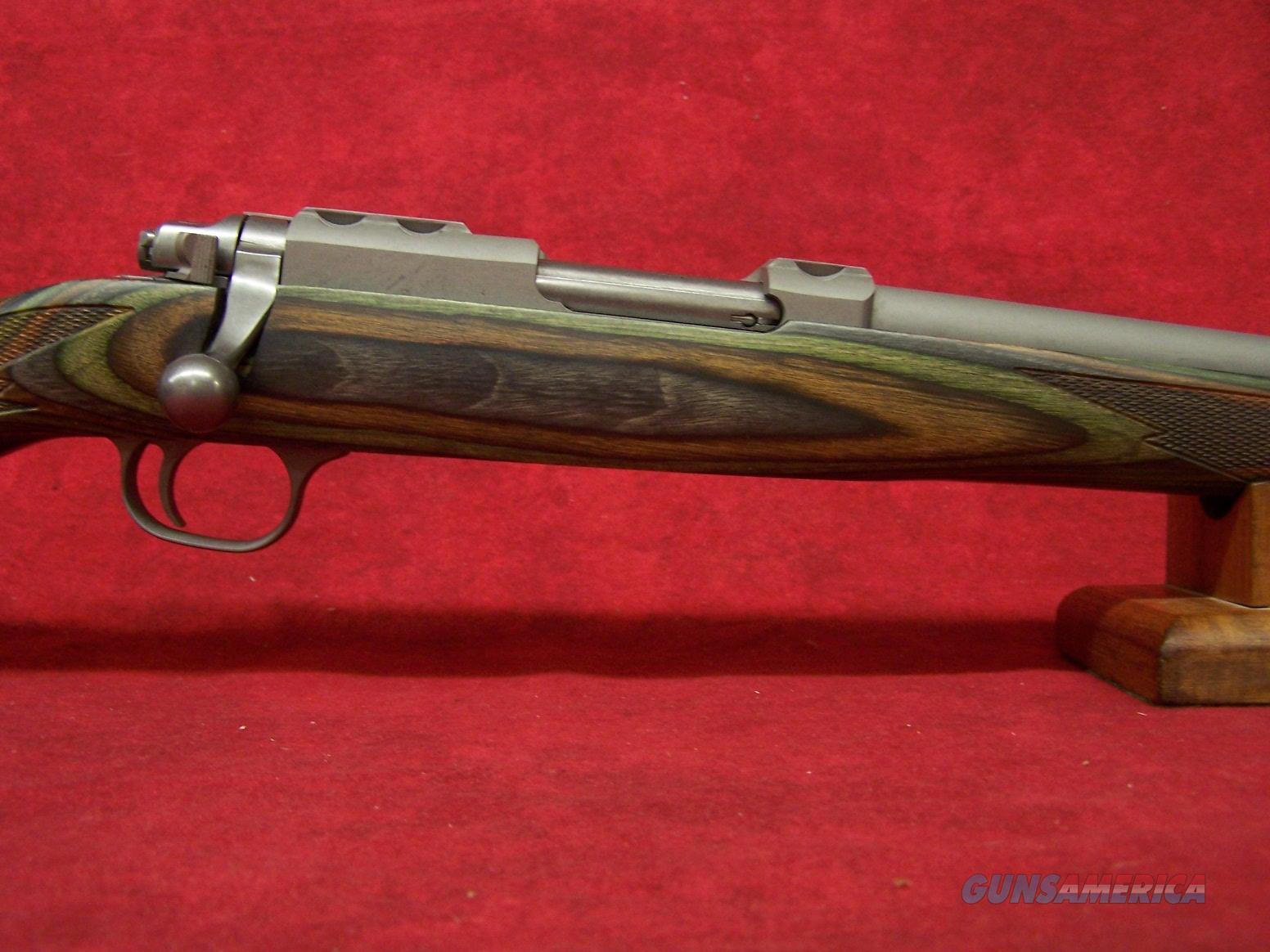 "RUGER 77/17 17WSM 18.5"" SS GREEN MOUNTAIN LAMINATE (07218)  Guns > Rifles > Ruger Rifles > Model 77"