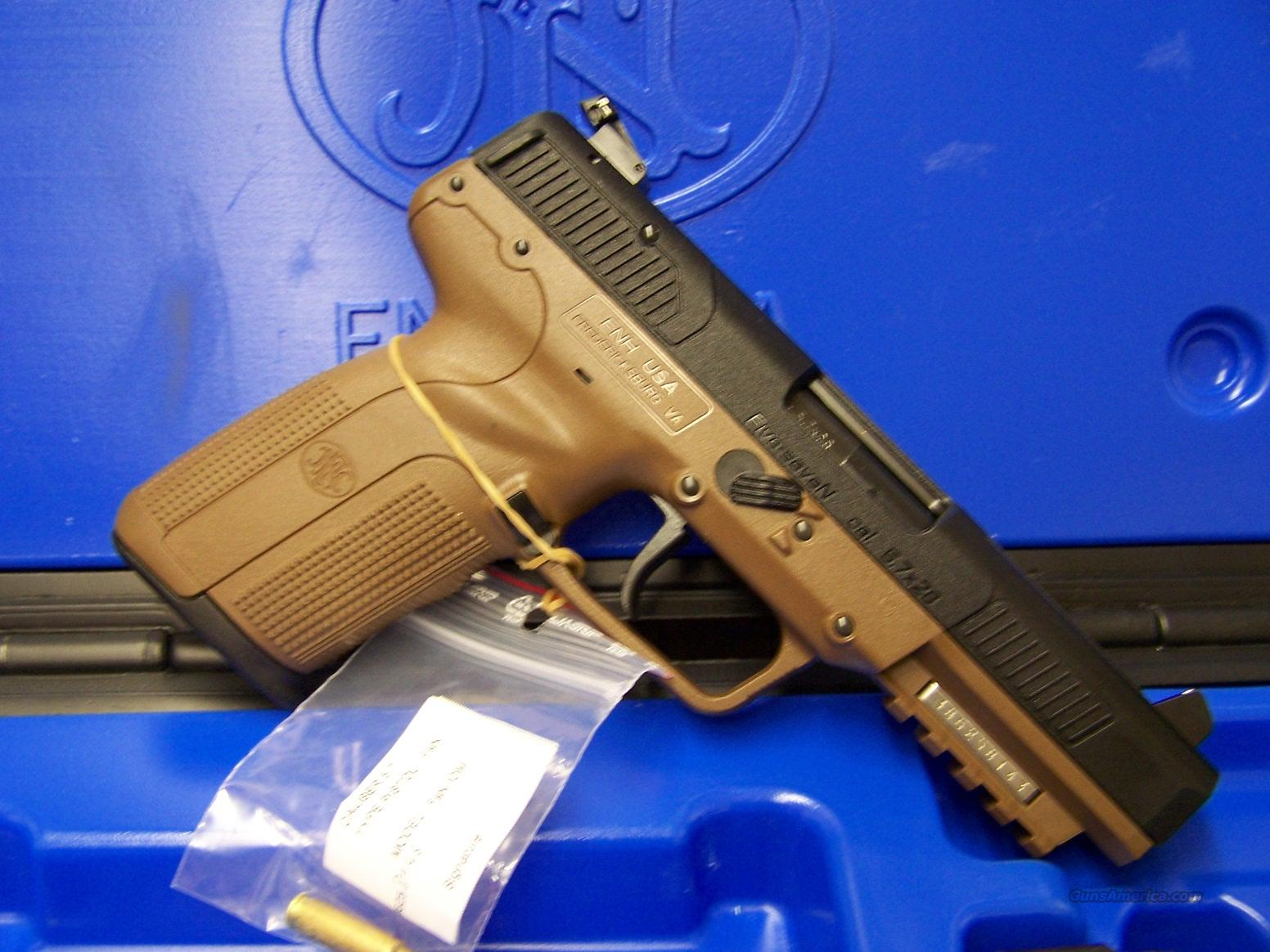 "FNH Five-Seven MK II 5.7 x 28mm FDE 4 3/4"" adjustable sights 3-20 round mags (3868929350)  Guns > Pistols > FNH - Fabrique Nationale (FN) Pistols > FiveSeven"