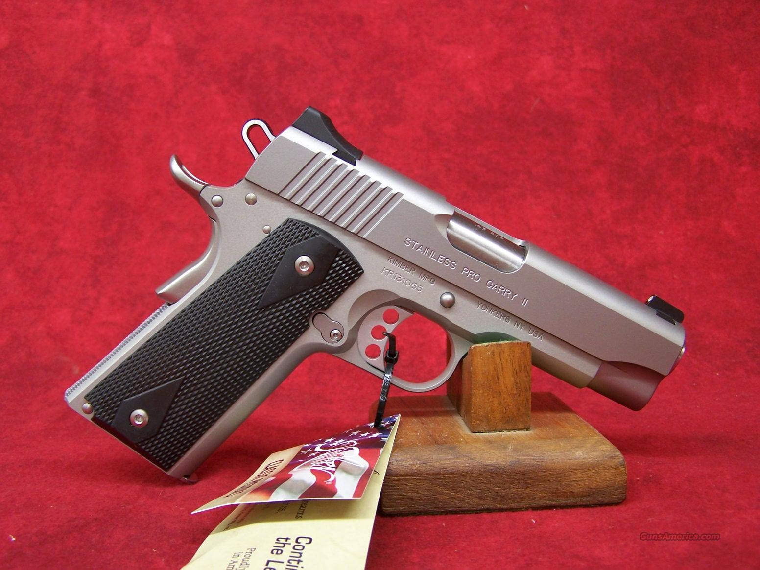 Kimber Stainless Pro Carry II w/Night Sights .45ACP(32071)  Guns > Pistols > Kimber of America Pistols