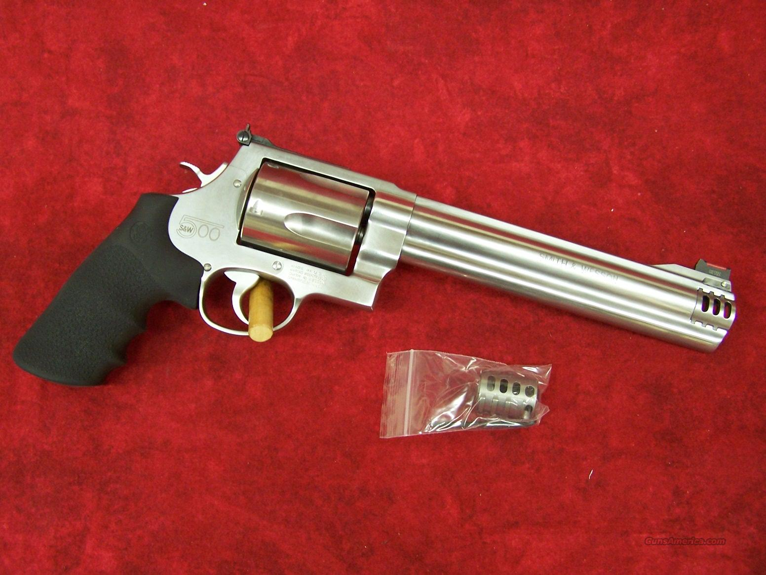 "Smith & Wesson 500 S&W 8 3/8"" w/interchangeable Compensator(163501)  Guns > Pistols > Smith & Wesson Revolvers > Full Frame Revolver"