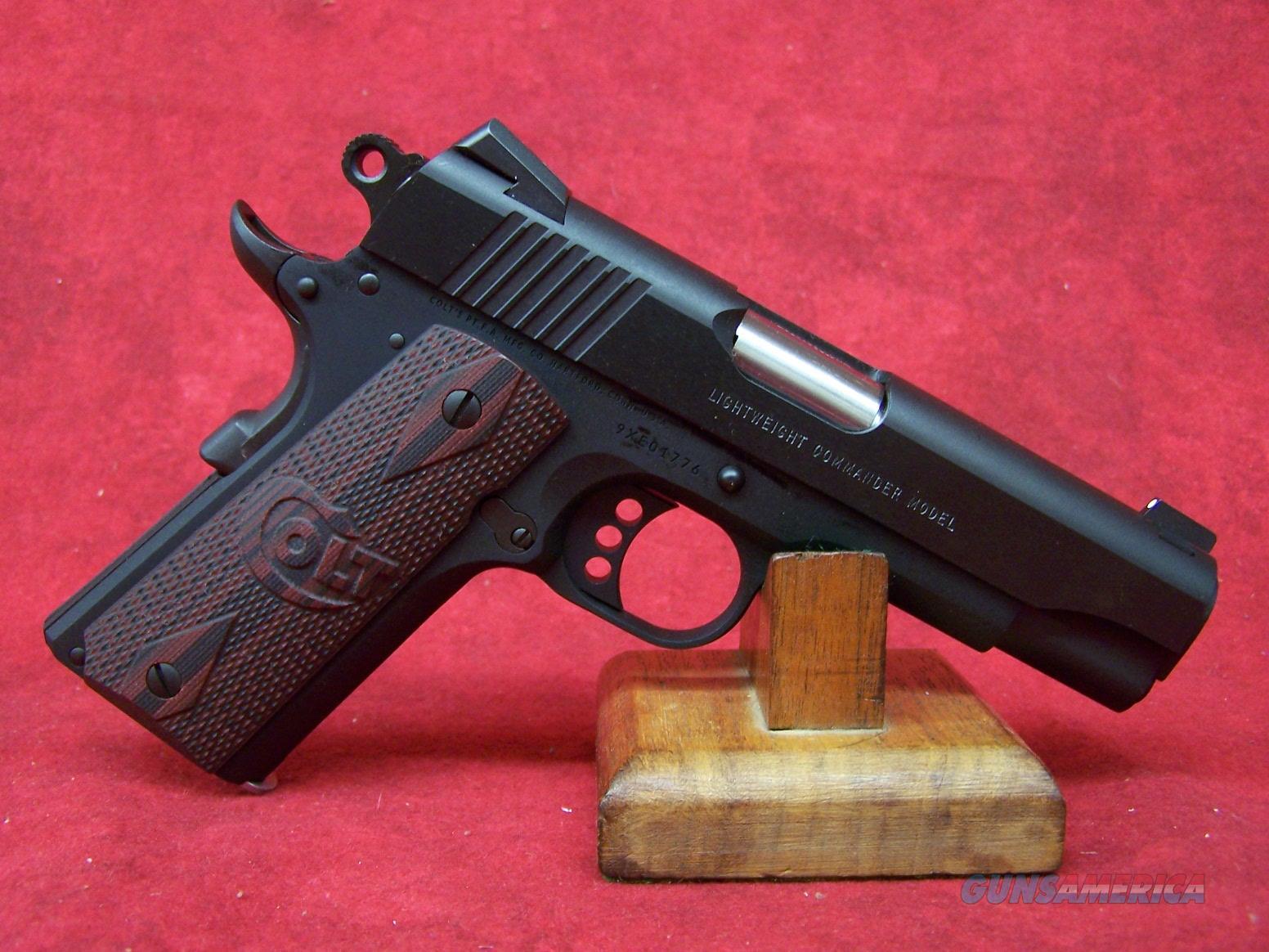Colt Lightweight Commander 9mm 4.25 Inch Barrel Blue Finish Carbon Steel Slide (04842XE)  Guns > Pistols > Colt Automatic Pistols (1911 & Var)