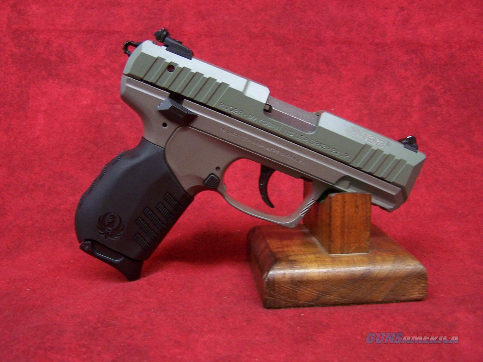 "Ruger SR22P .22LR TALO Jungle Green Slide FDE Frame Cerakote 3.5"" Barrel (03641)  Guns > Pistols > Ruger Semi-Auto Pistols > SR Family > SR22"