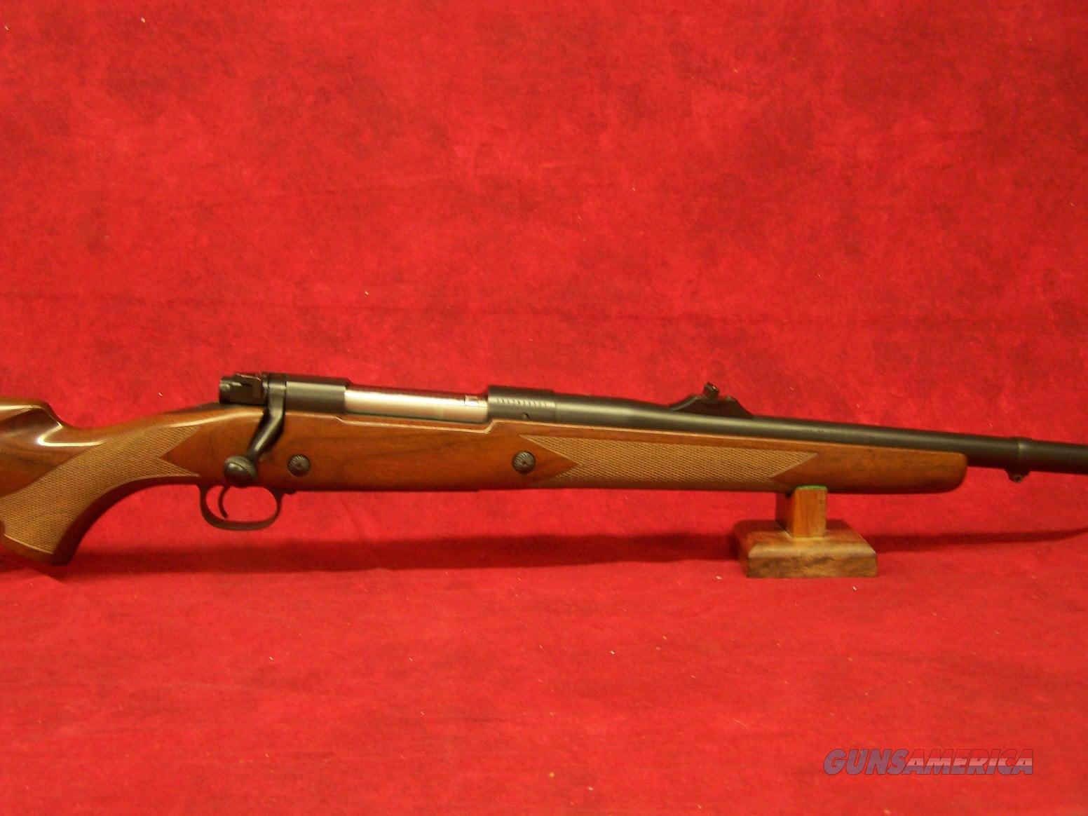 Winchester Model 70 Safari Express .375 H&H Mag with open sights.  Guns > Rifles > Winchester Rifles - Modern Bolt/Auto/Single > Model 70 > Post-64