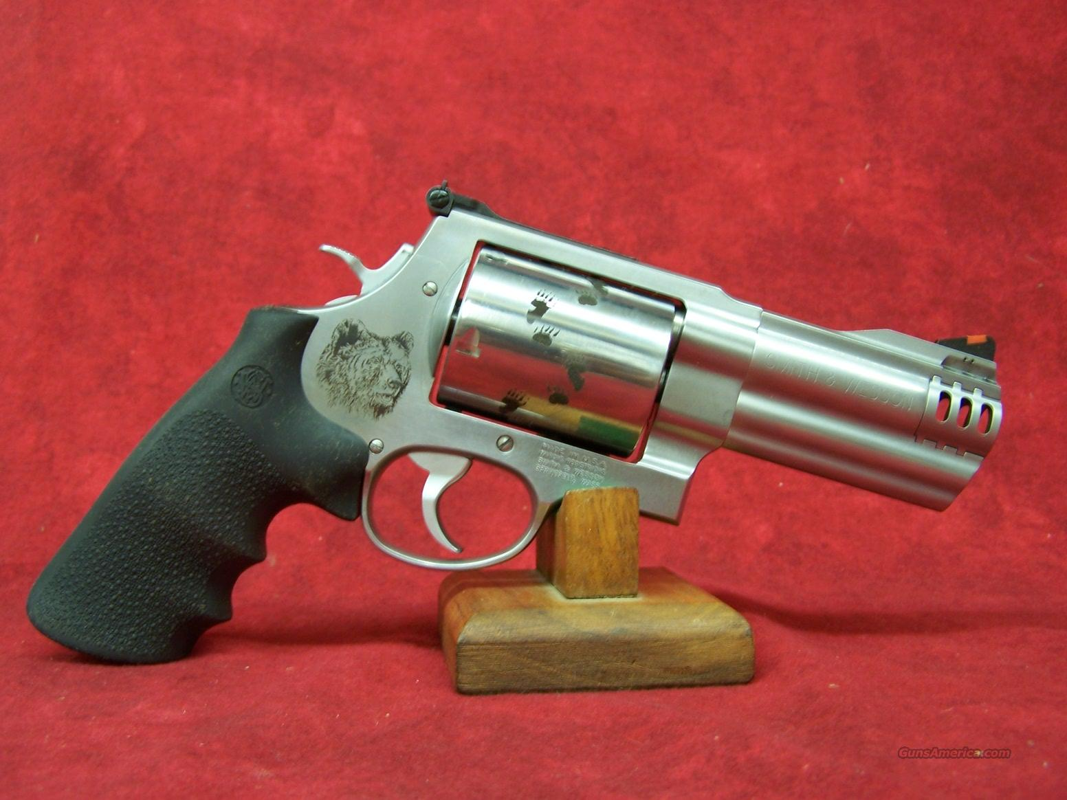 "Smith & Wesson 500 4"" S/S Backpacker .500 S&W (151189)  Guns > Pistols > Smith & Wesson Revolvers > Full Frame Revolver"