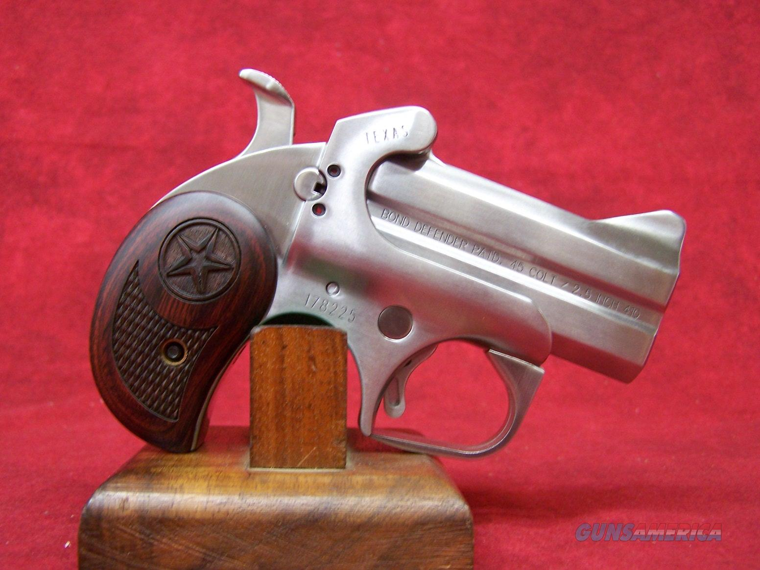 """Bond Arms Texas Defender .45 Colt/410ga 3"""" Barrel 2.5"""" Chamber (BATD45410)  Guns > Pistols > Bond Derringers"""
