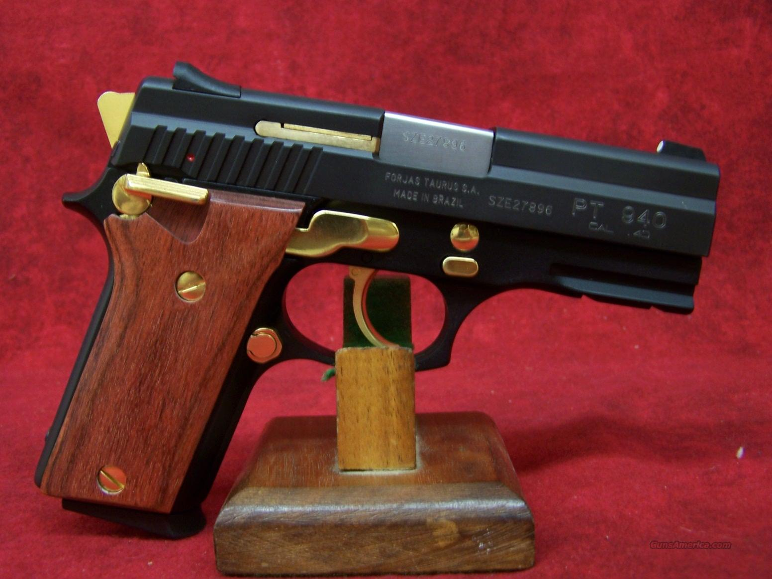 Taurus PT940 with Gold Trim and Rosewood Grips .40 S&W  Guns > Pistols > Taurus Pistols/Revolvers > Pistols > Steel Frame