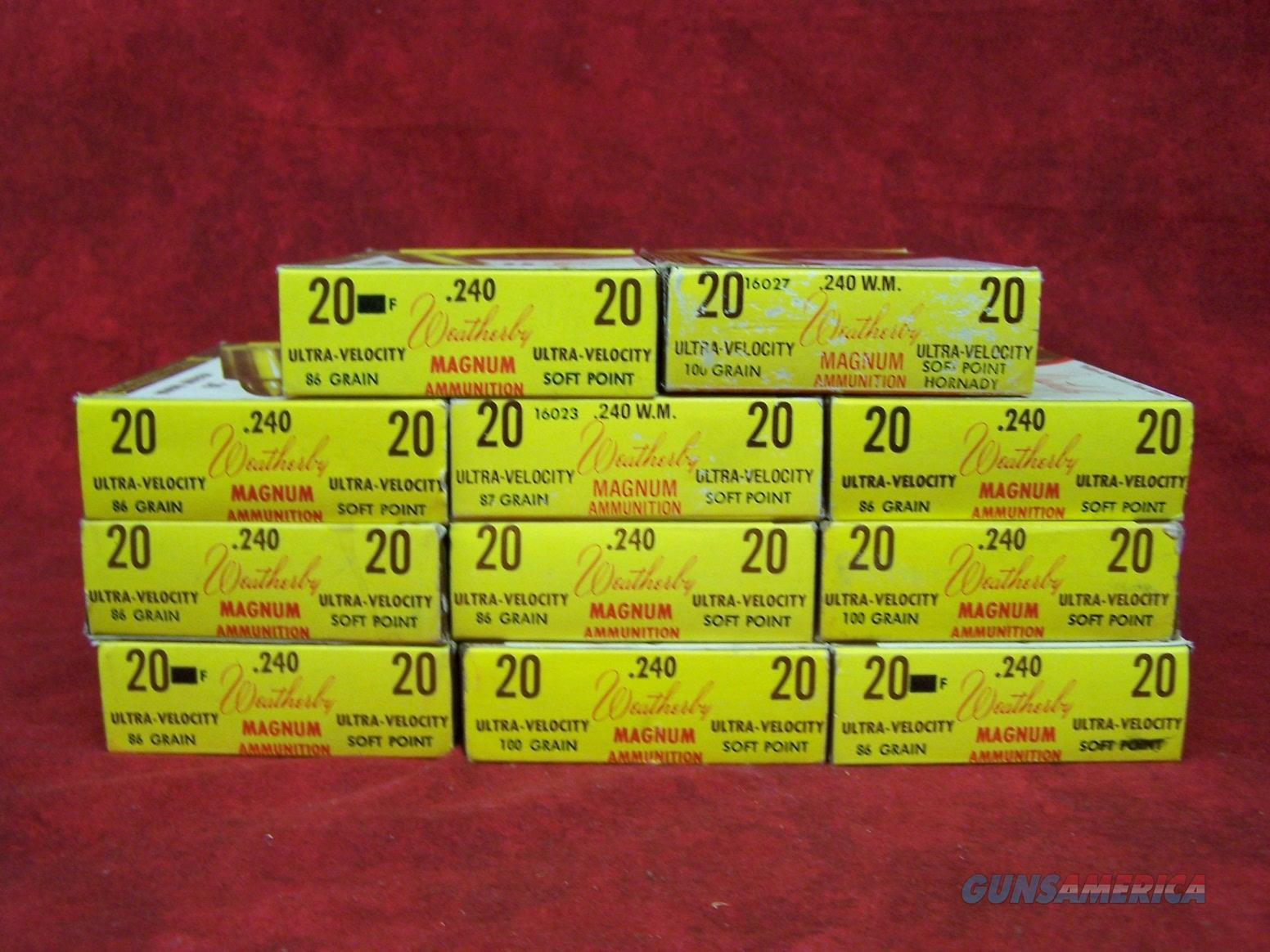 .240 Weatherby Ammunition 86,100 Grain Bullets  Non-Guns > Ammunition